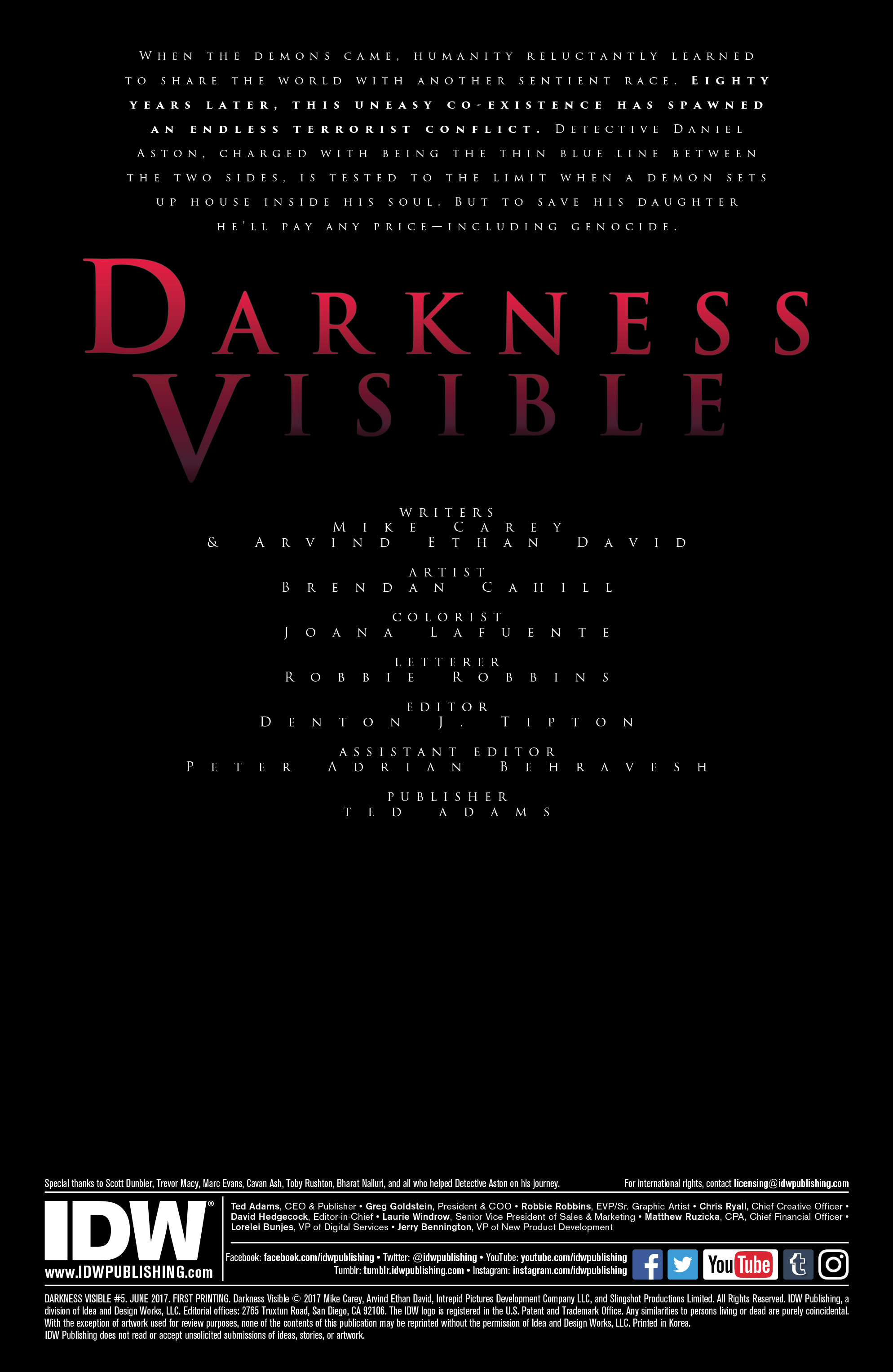 Read online Darkness Visible comic -  Issue #5 - 2