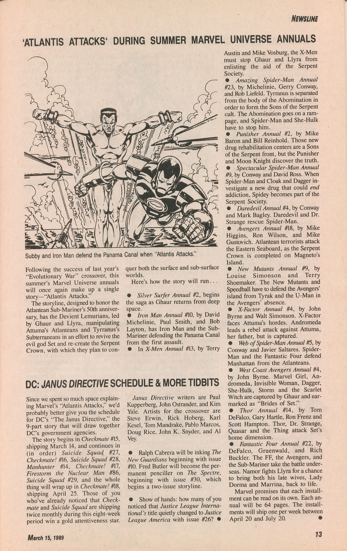 Read online Amazing Heroes comic -  Issue #161 - 13