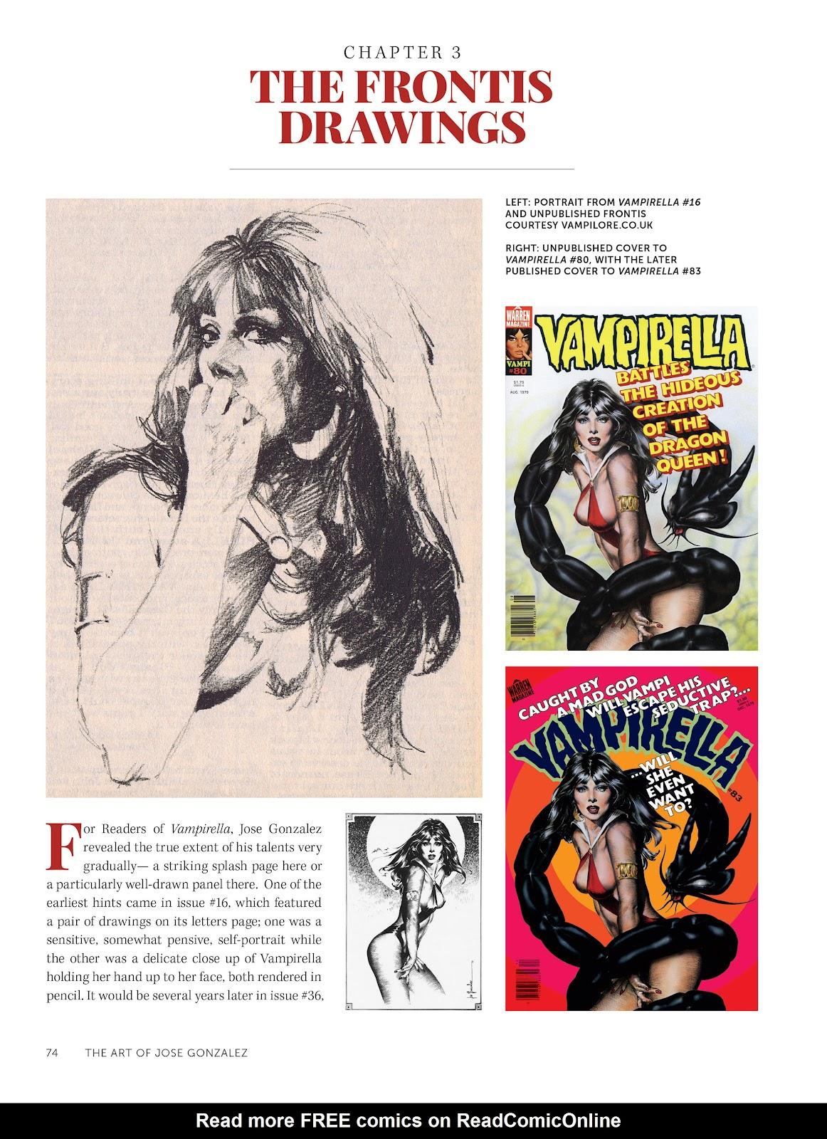 Read online The Art of Jose Gonzalez comic -  Issue # TPB (Part 1) - 75