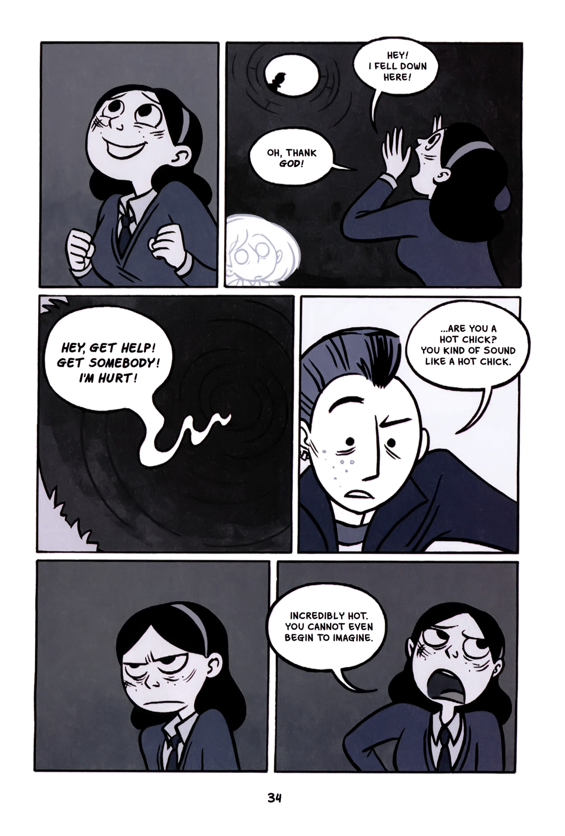 Read online Anya's Ghost comic -  Issue #1 - 35