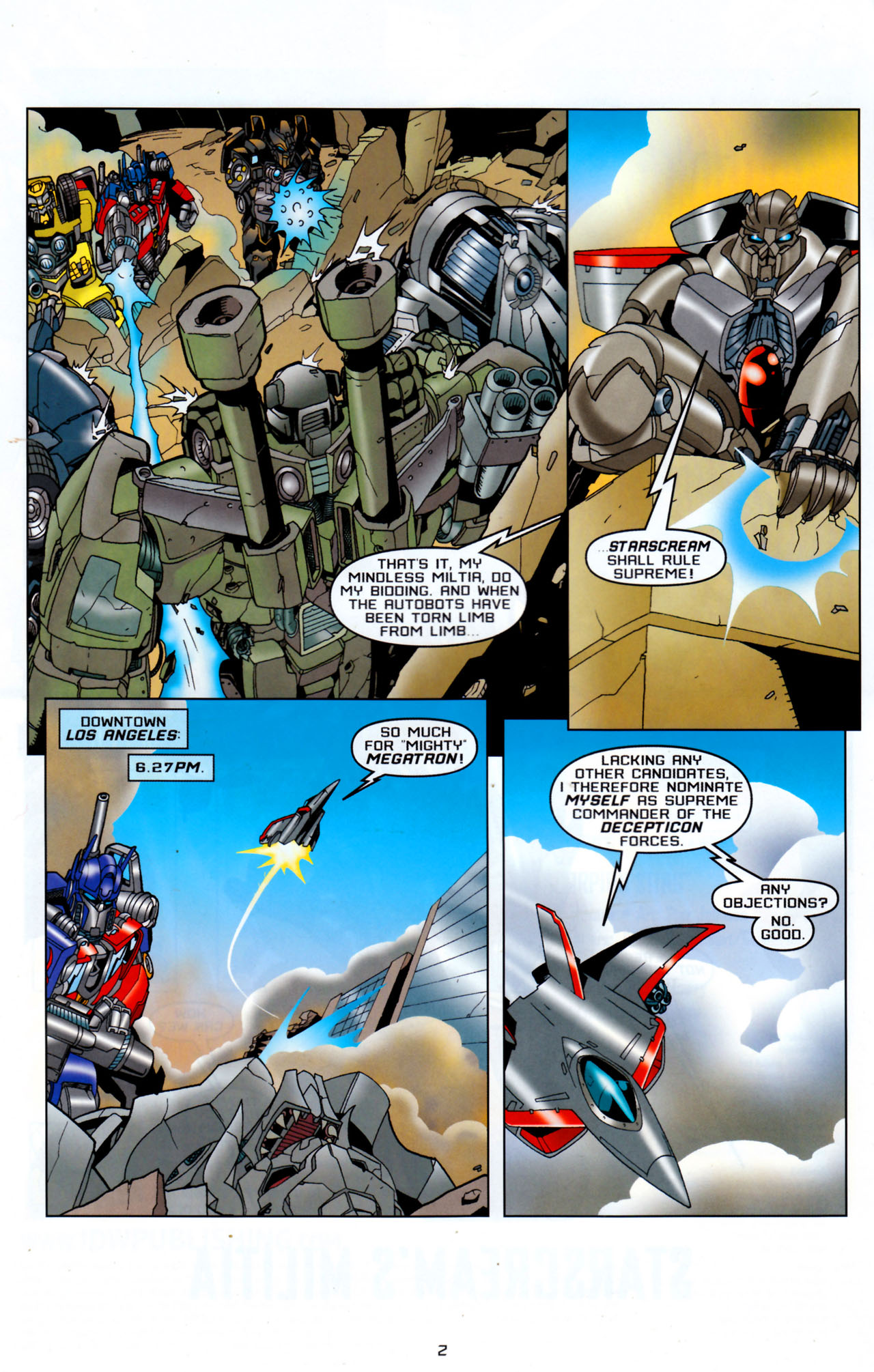 Read online Transformers: Saga of the Allspark comic -  Issue #4 - 5