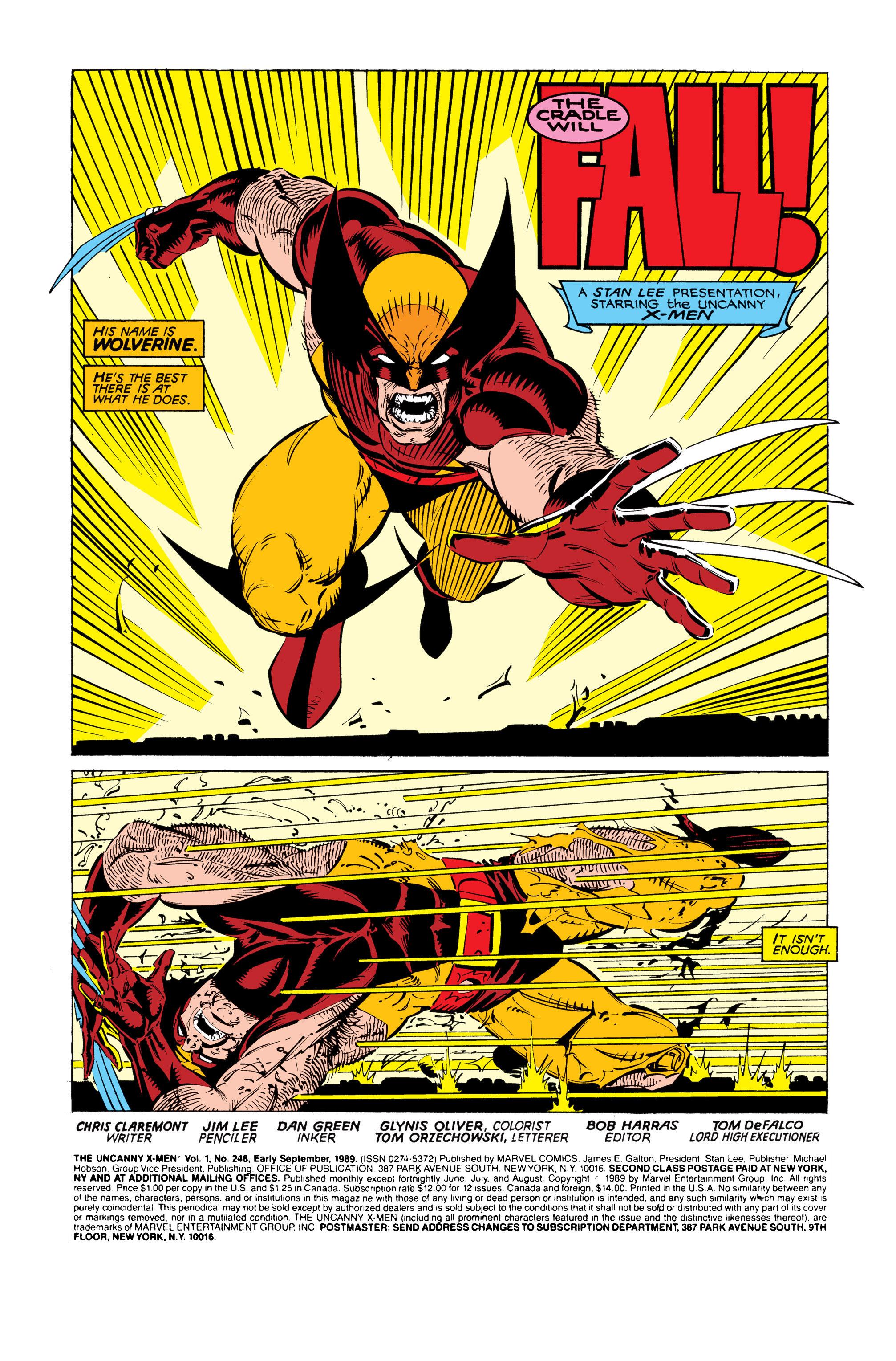 Read online Uncanny X-Men (1963) comic -  Issue #248 - 2