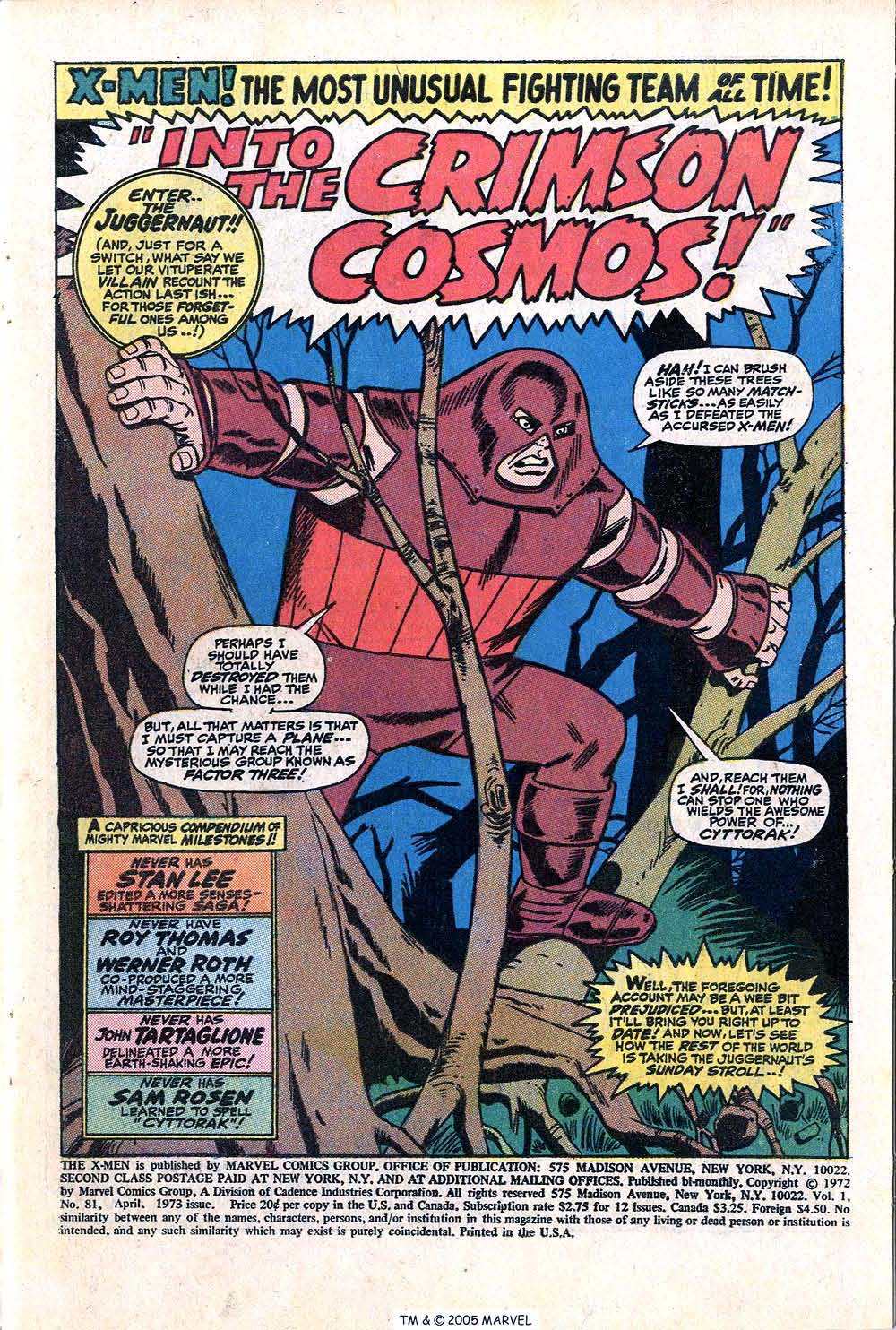 Read online Uncanny X-Men (1963) comic -  Issue #81 - 3