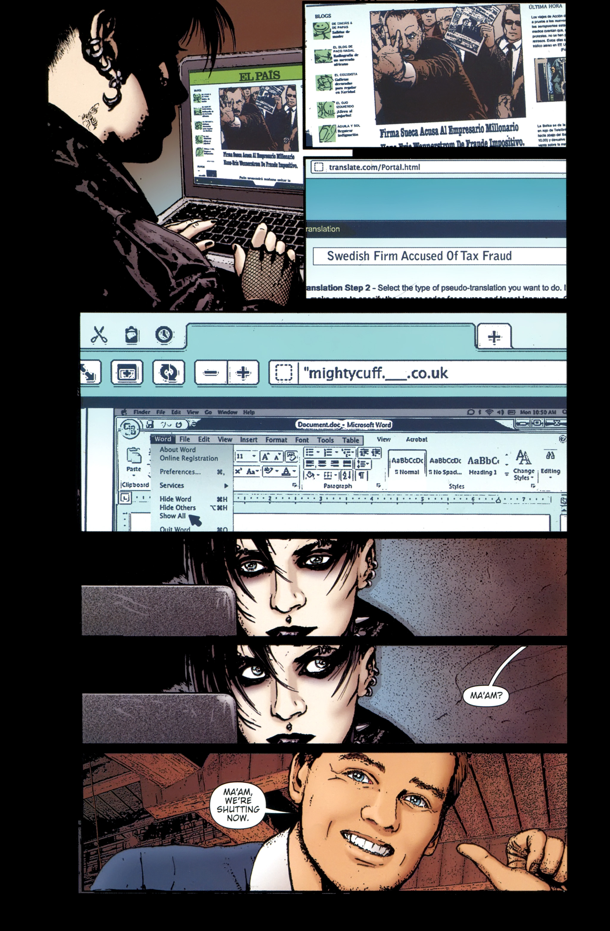 Read online The Girl With the Dragon Tattoo comic -  Issue # TPB 1 - 95