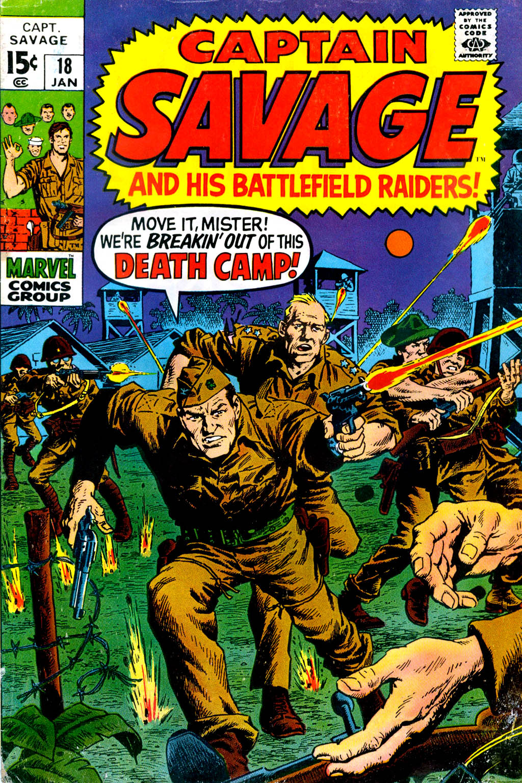 Captain Savage and his Leatherneck Raiders issue 18 - Page 1