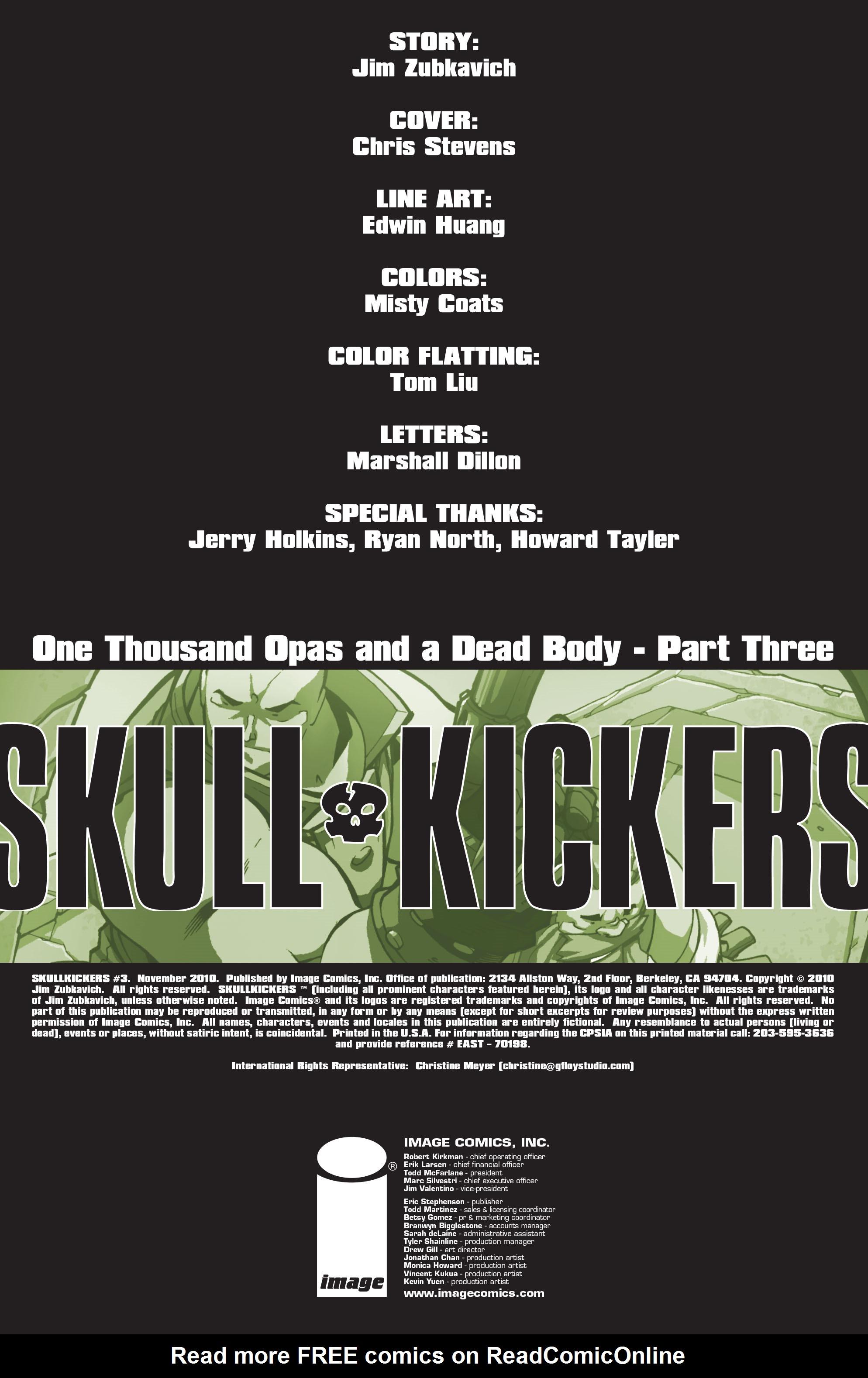 Read online Skullkickers comic -  Issue #3 - 2