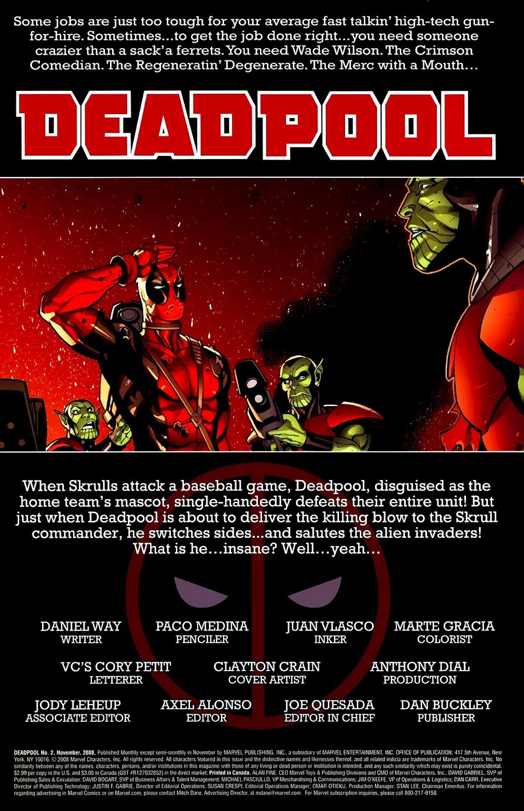 Read online Deadpool (2008) comic -  Issue #2 - 2