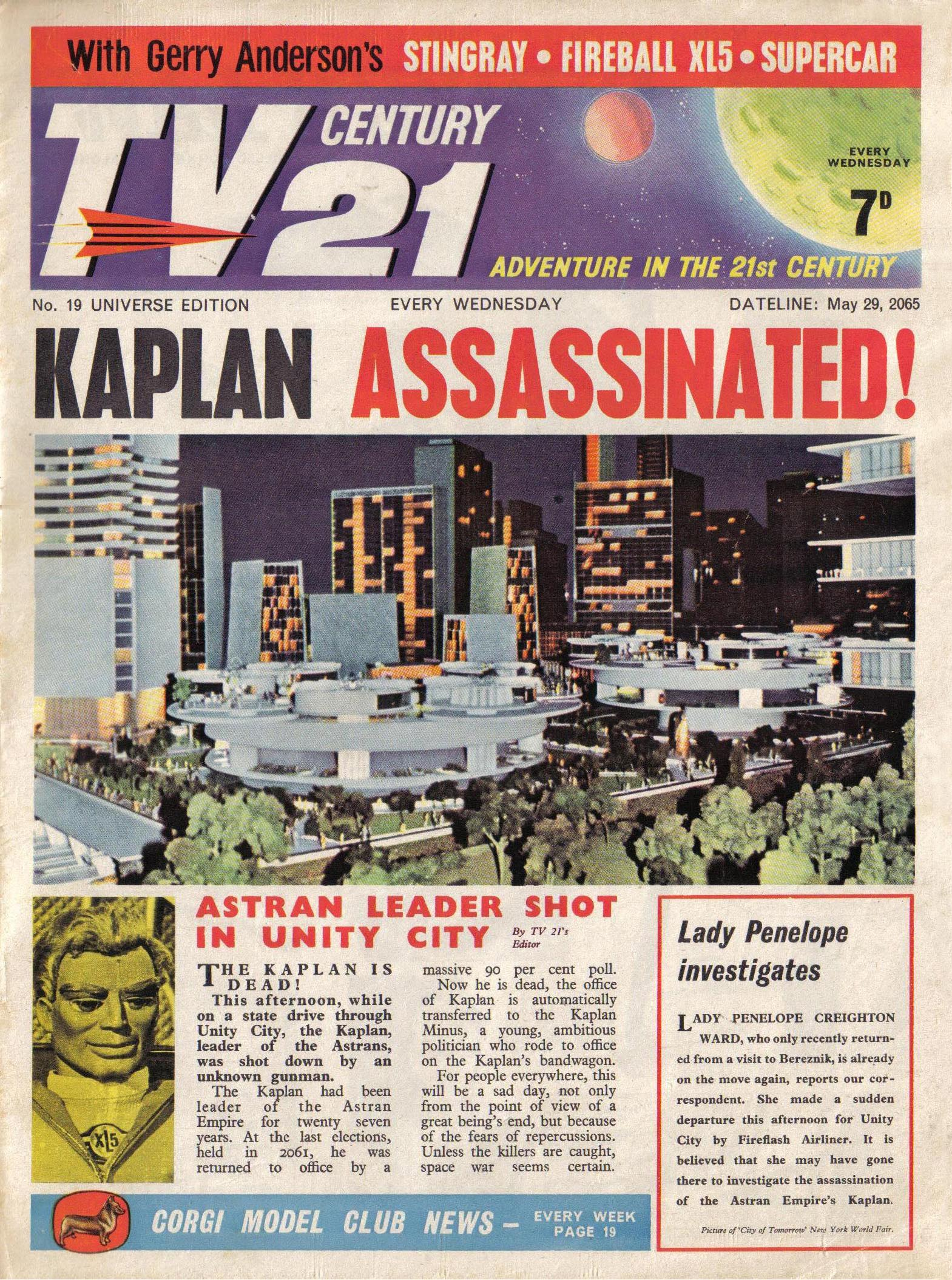 Read online TV Century 21 (TV 21) comic -  Issue #19 - 1