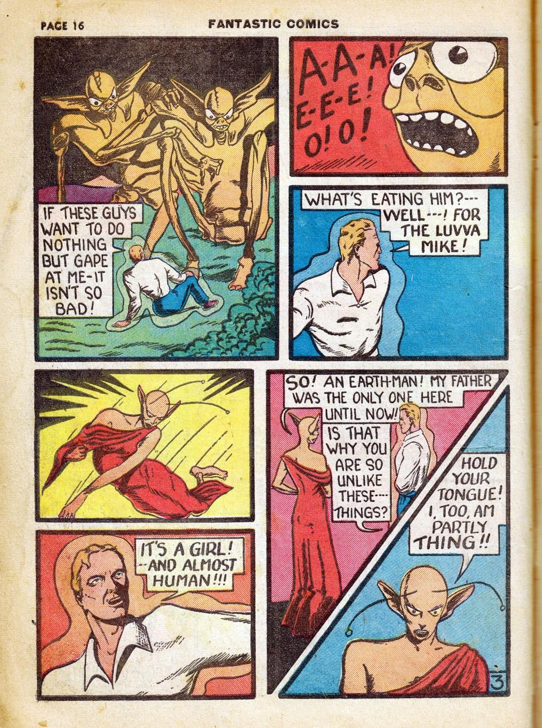 Read online Fantastic Comics comic -  Issue #7 - 18