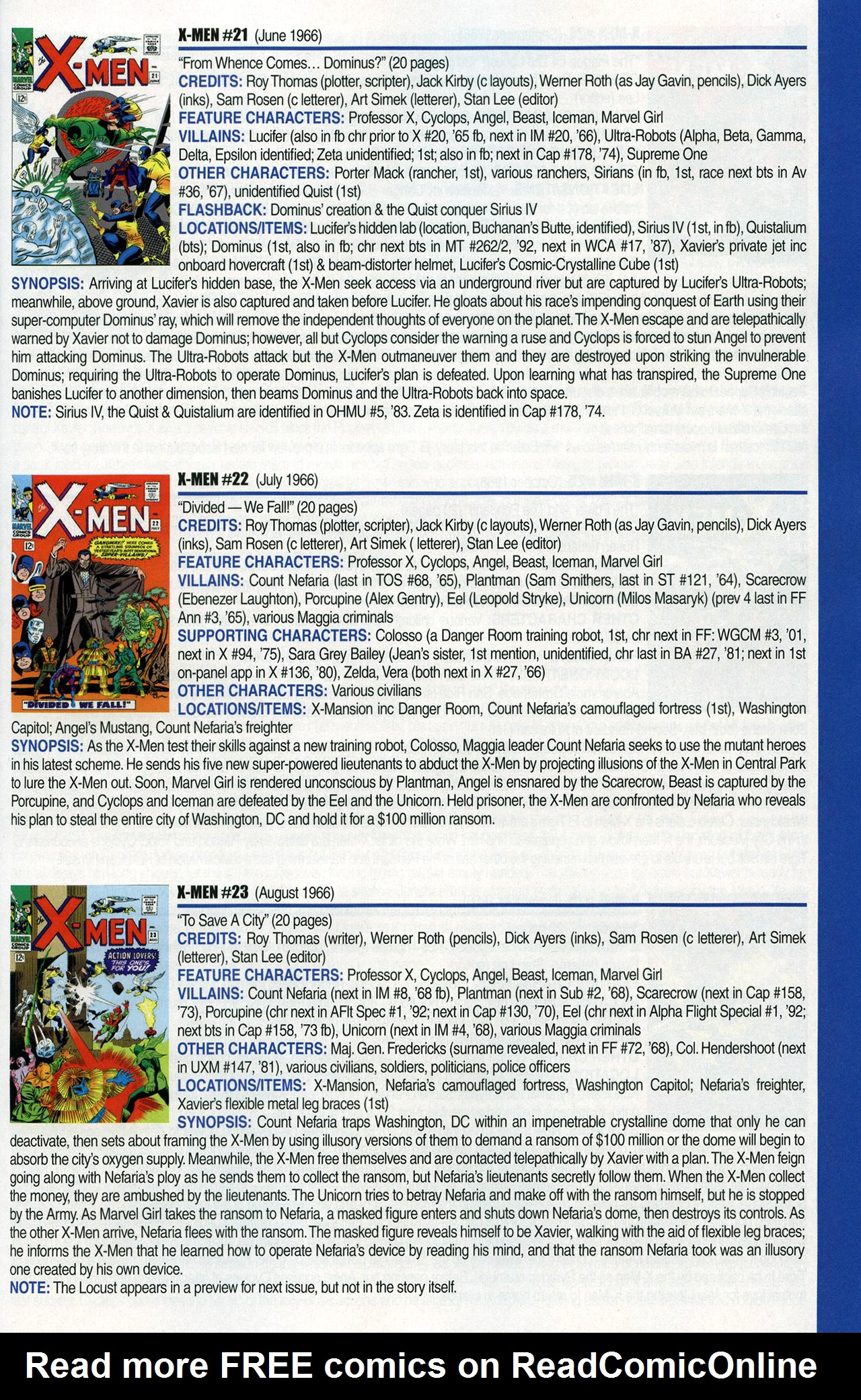 Read online Official Index to the Marvel Universe comic -  Issue #1 - 53