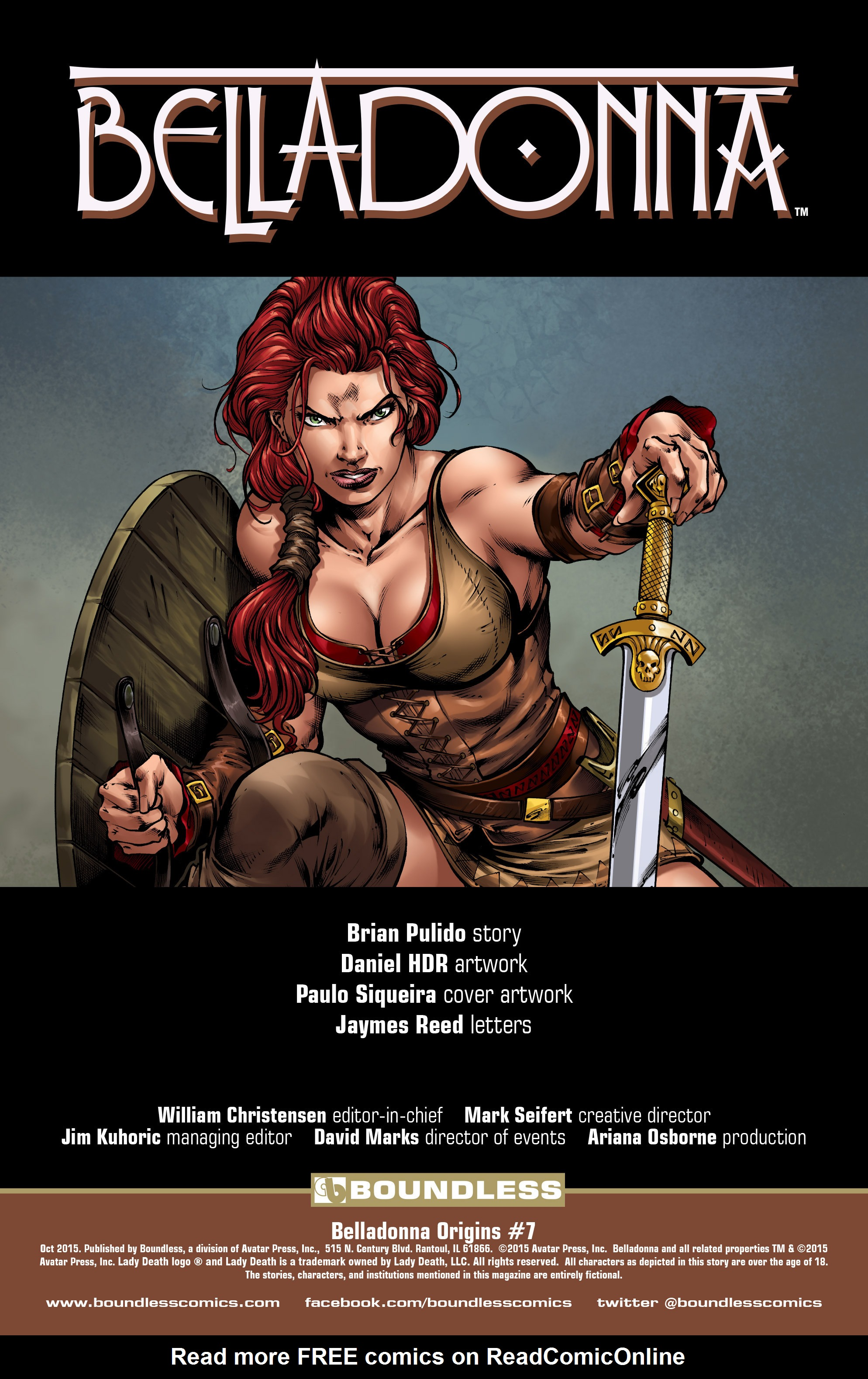 Read online Belladonna: Origins comic -  Issue #7 - 2