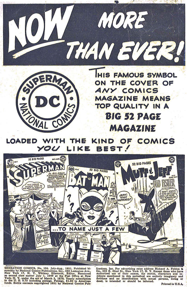 Read online Sensation (Mystery) Comics comic -  Issue #104 - 2