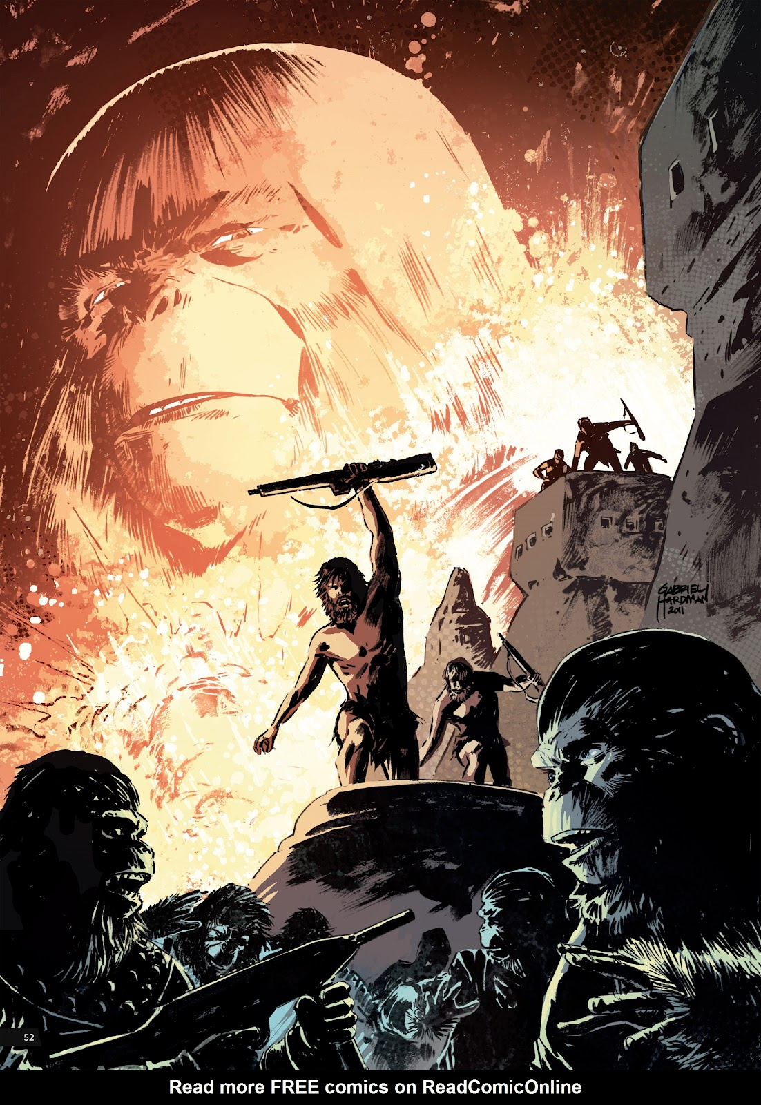 Read online Planet of the Apes Artist Tribute comic -  Issue # TPB - 52