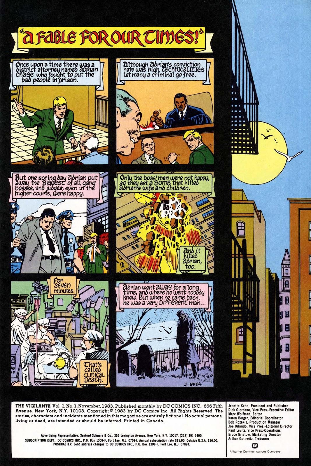 Vigilante (1983) issue 1 - Page 2