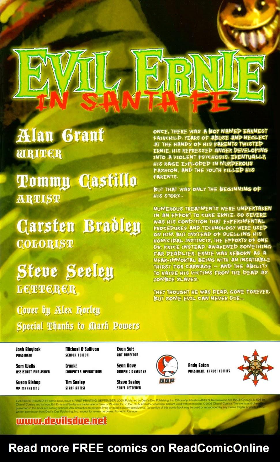 Read online Evil Ernie in Santa Fe comic -  Issue #1 - 2
