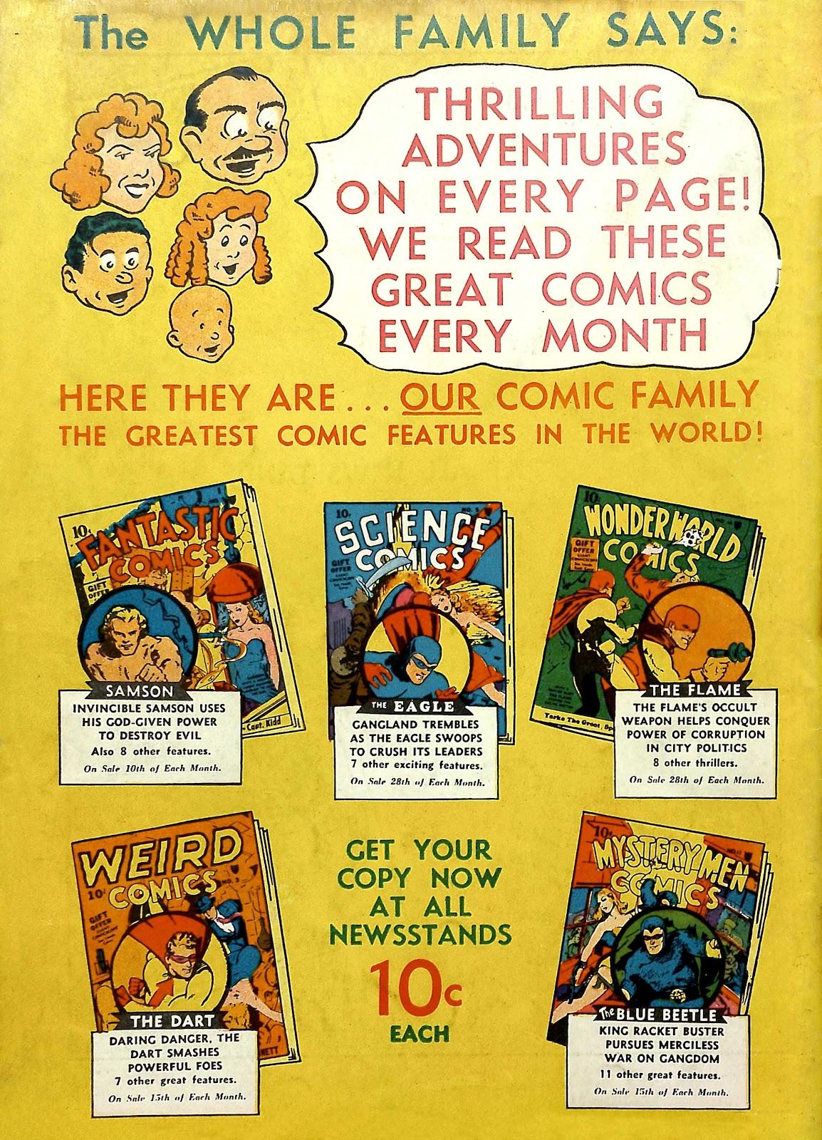 Read online Fantastic Comics comic -  Issue #11 - 69