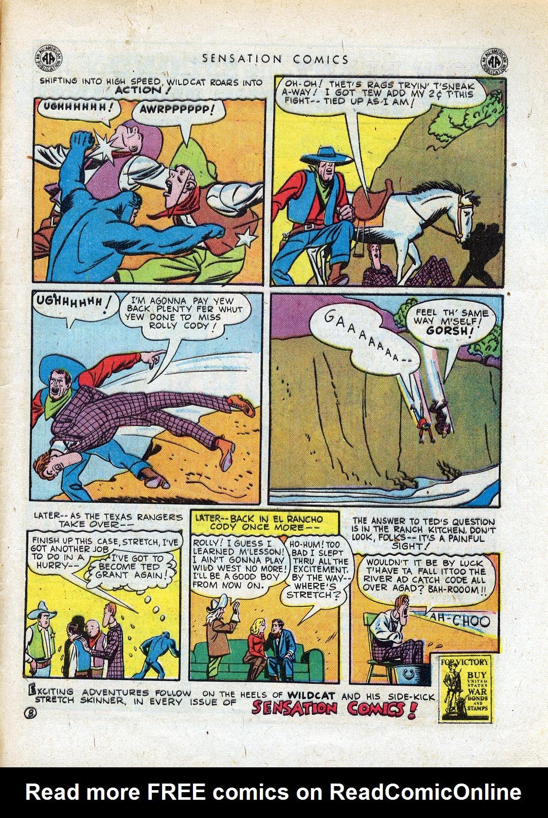 Read online Sensation (Mystery) Comics comic -  Issue #41 - 49