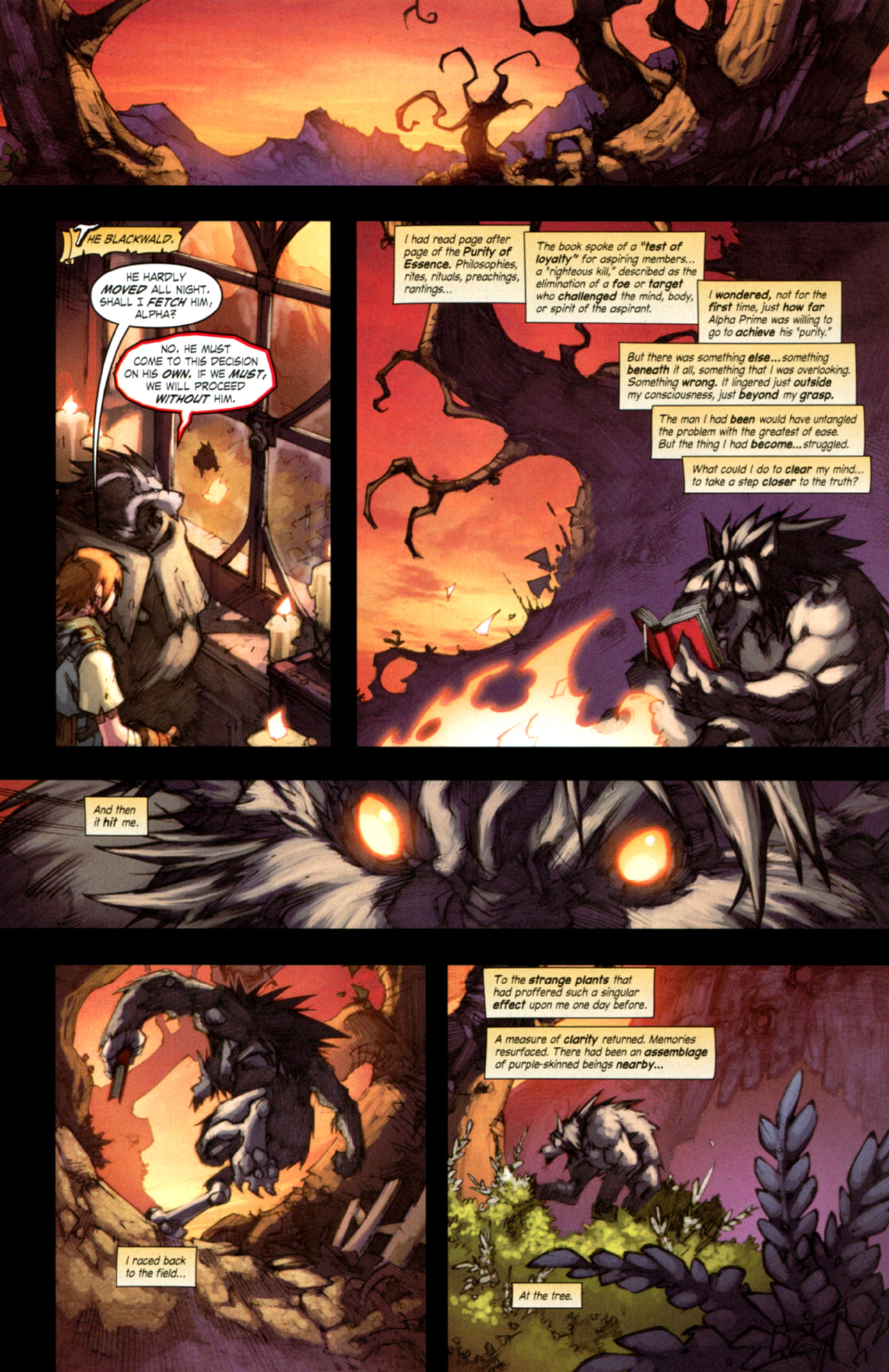 Read online World of Warcraft: Curse of the Worgen comic -  Issue #3 - 28