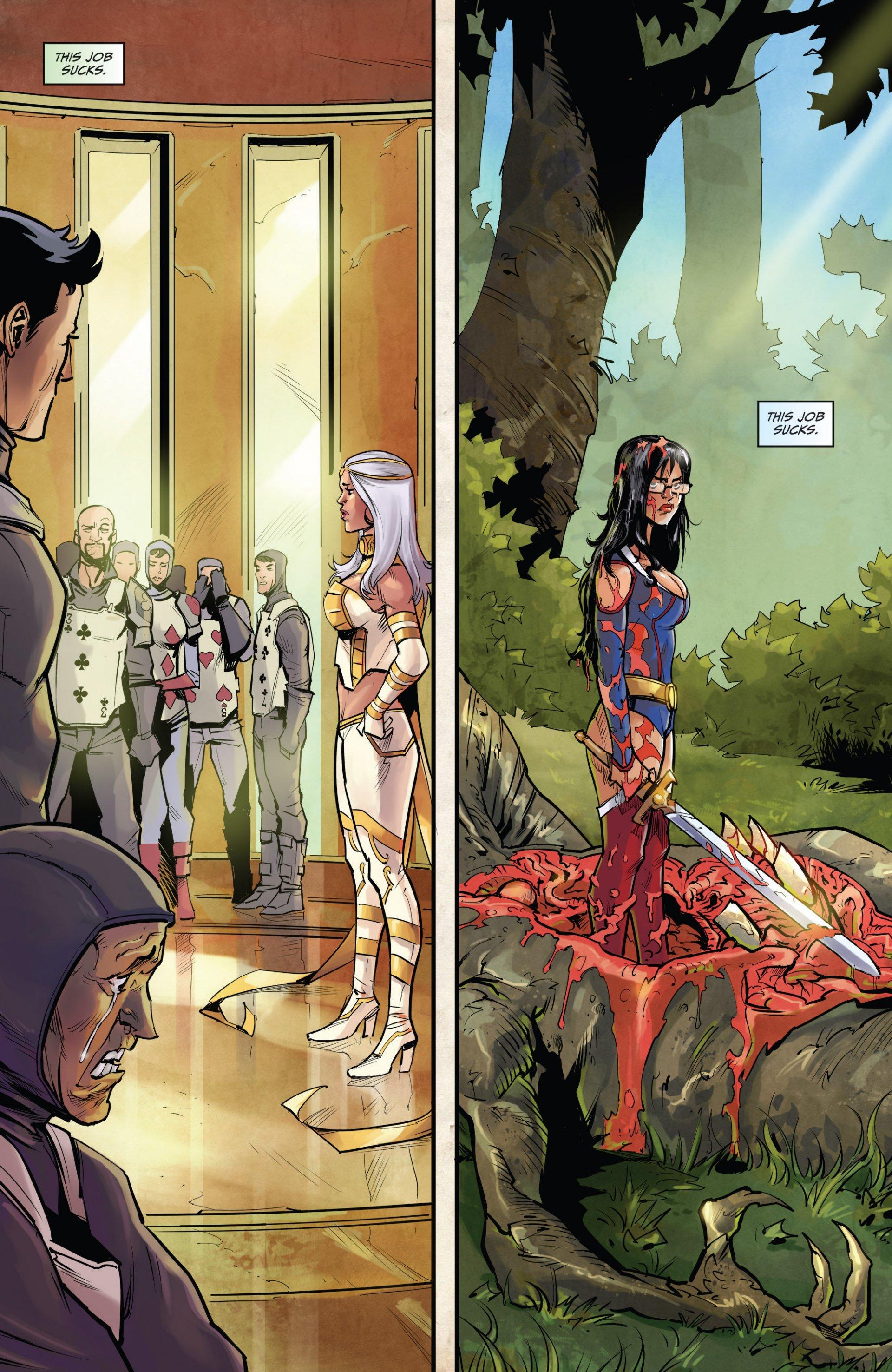 Read online Grimm Fairy Tales vs. Wonderland comic -  Issue #1 - 5