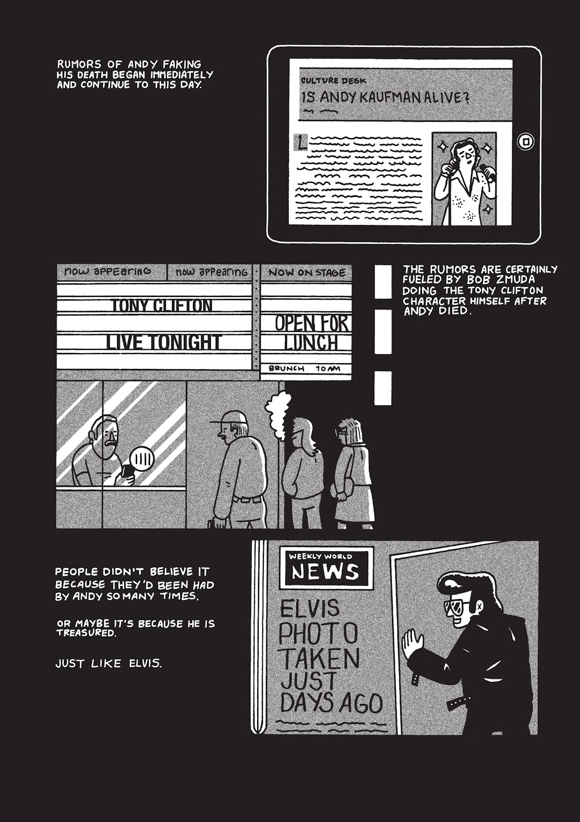 Read online Is This Guy For Real?: The Unbelievable Andy Kaufman comic -  Issue # TPB (Part 3) - 54