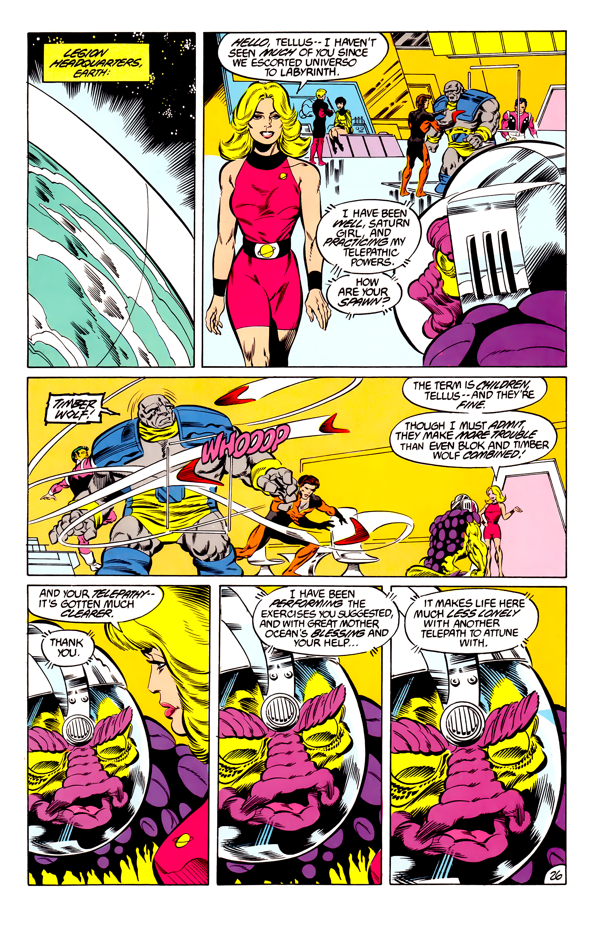 Legion of Super-Heroes (1984) 46 Page 26