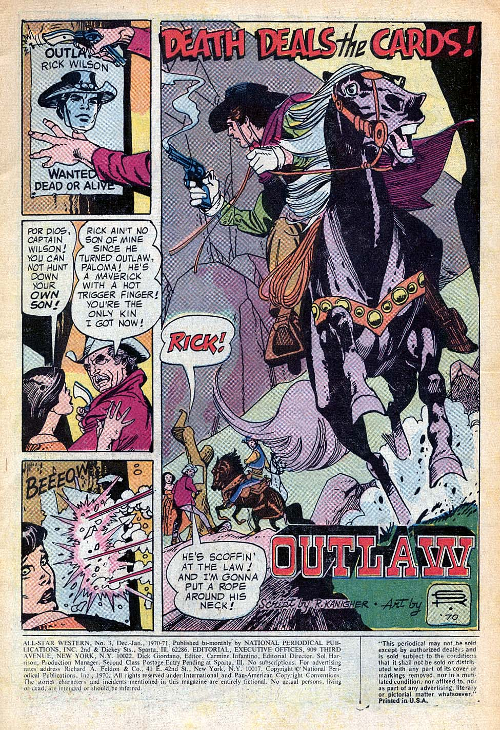 Read online All-Star Western (1970) comic -  Issue #3 - 2