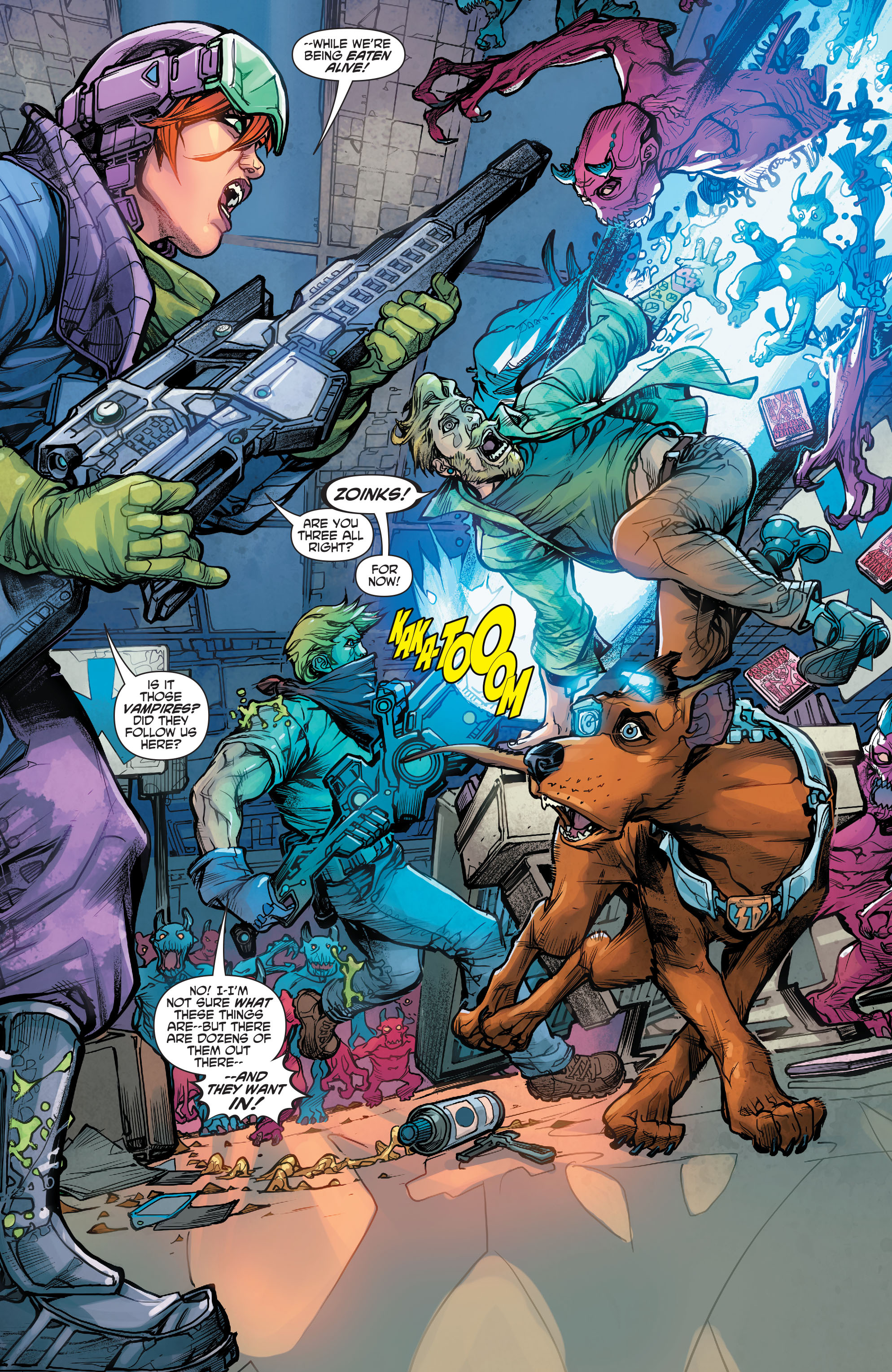 Read online Scooby Apocalypse comic -  Issue #5 - 6