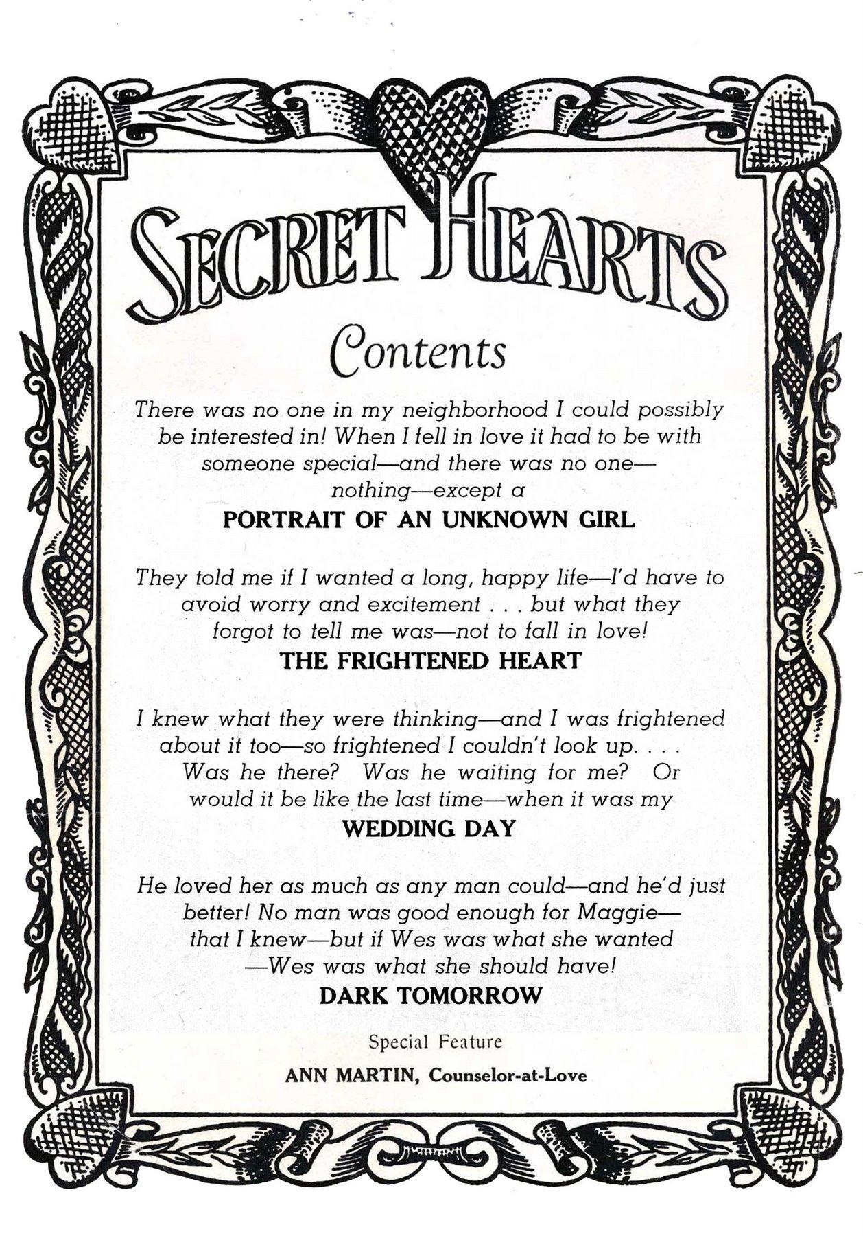 Read online Secret Hearts comic -  Issue #53 - 2