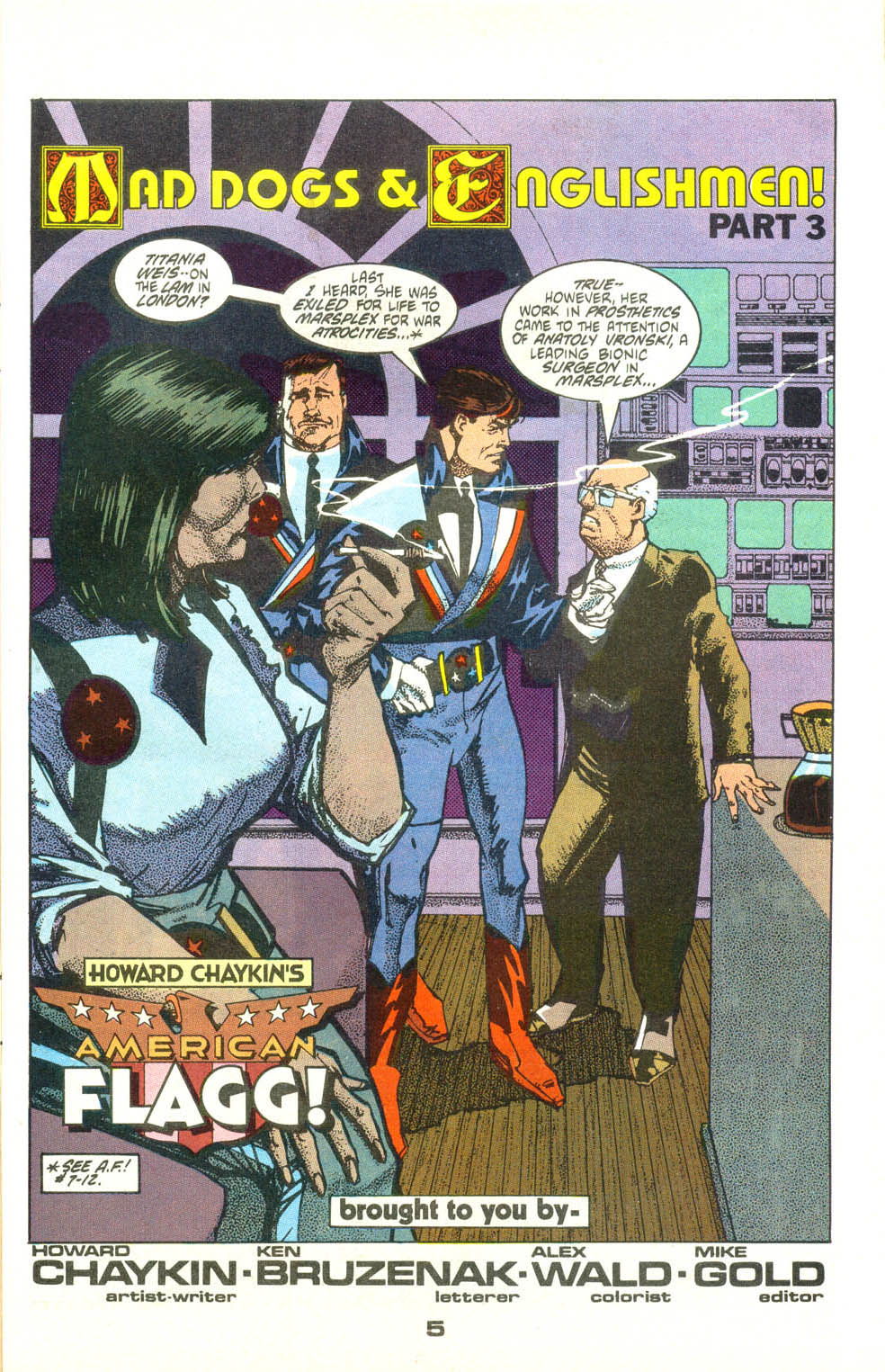 Read online American Flagg! comic -  Issue #25 - 6
