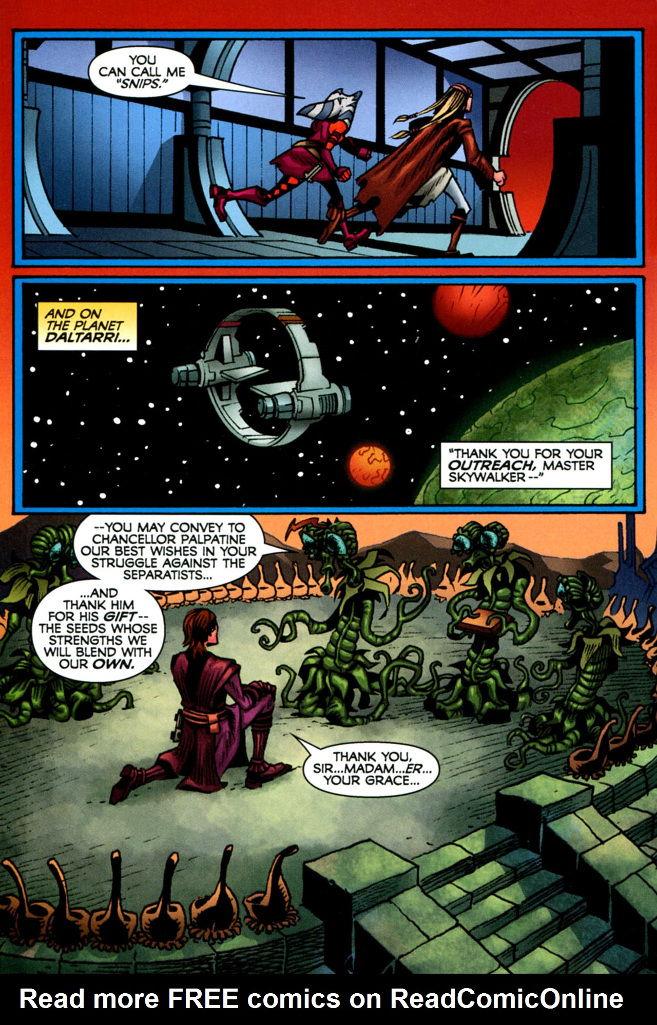 Read online Star Wars: The Clone Wars - The Starcrusher Trap comic -  Issue # Full - 47