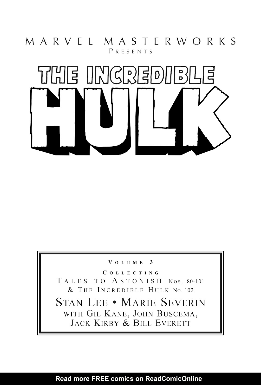 Read online Marvel Masterworks: The Incredible Hulk comic -  Issue # TPB 3 (Part 1) - 2