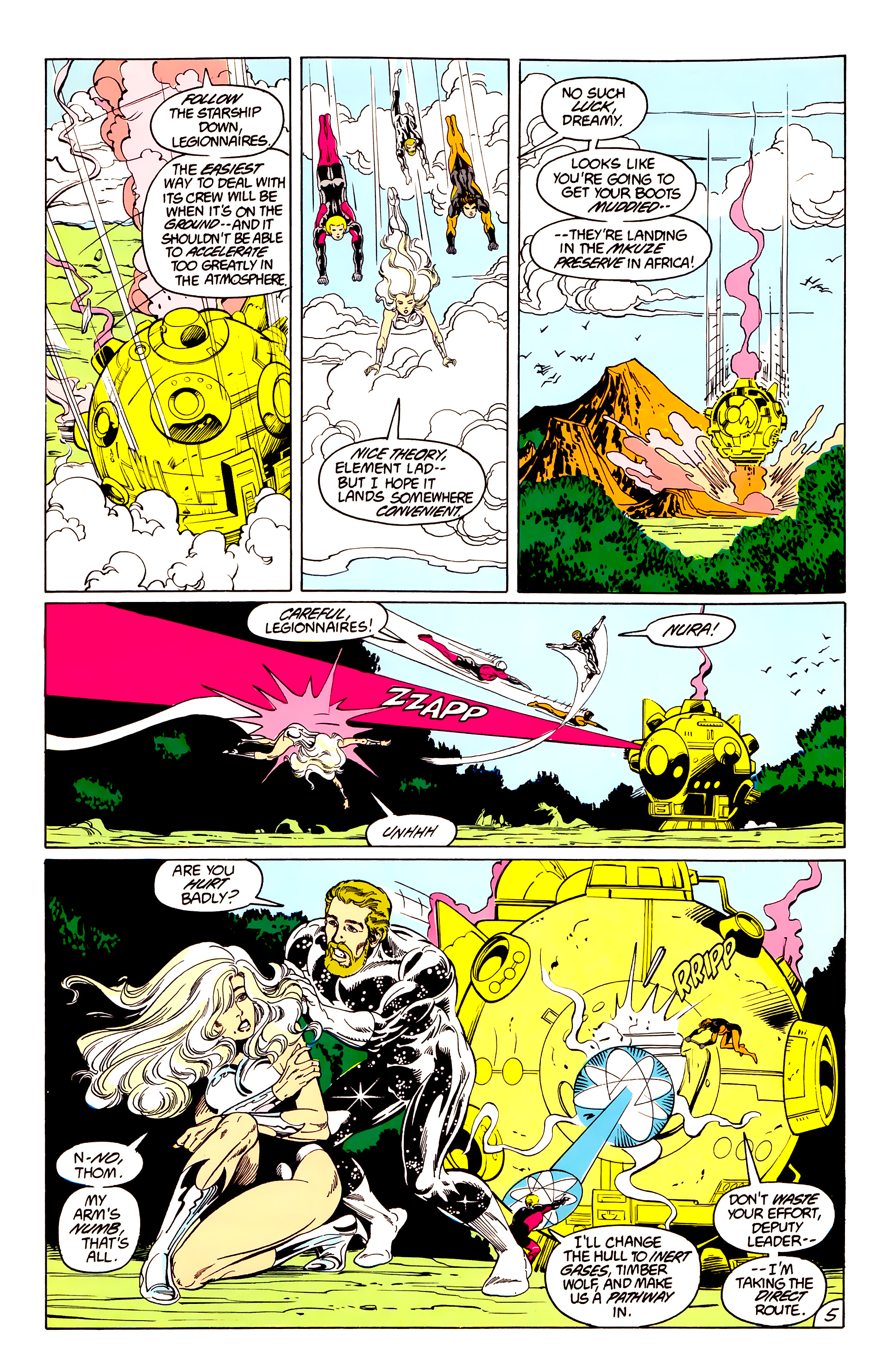 Legion of Super-Heroes (1984) 40 Page 5