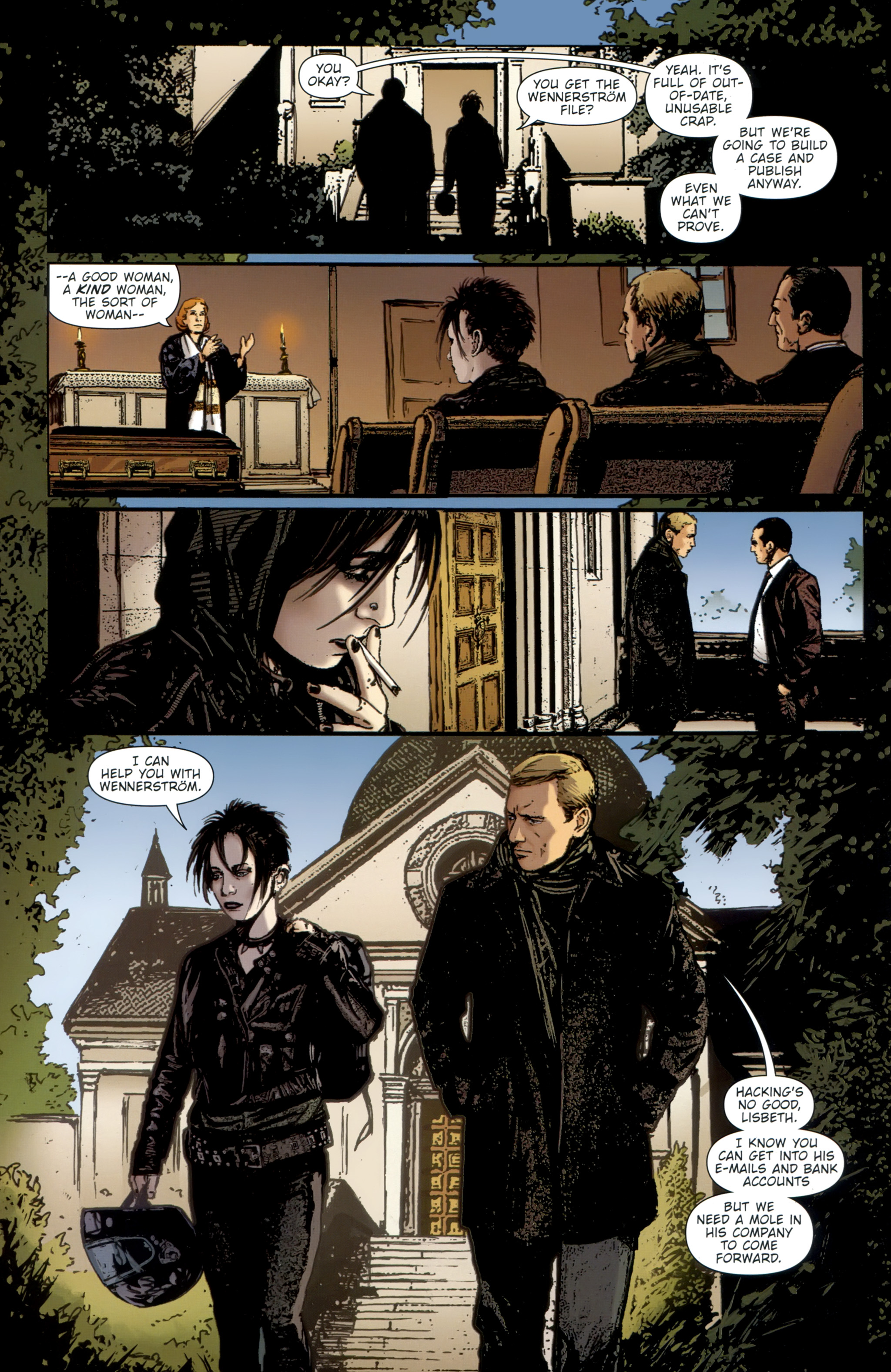 Read online The Girl With the Dragon Tattoo comic -  Issue # TPB 2 - 144