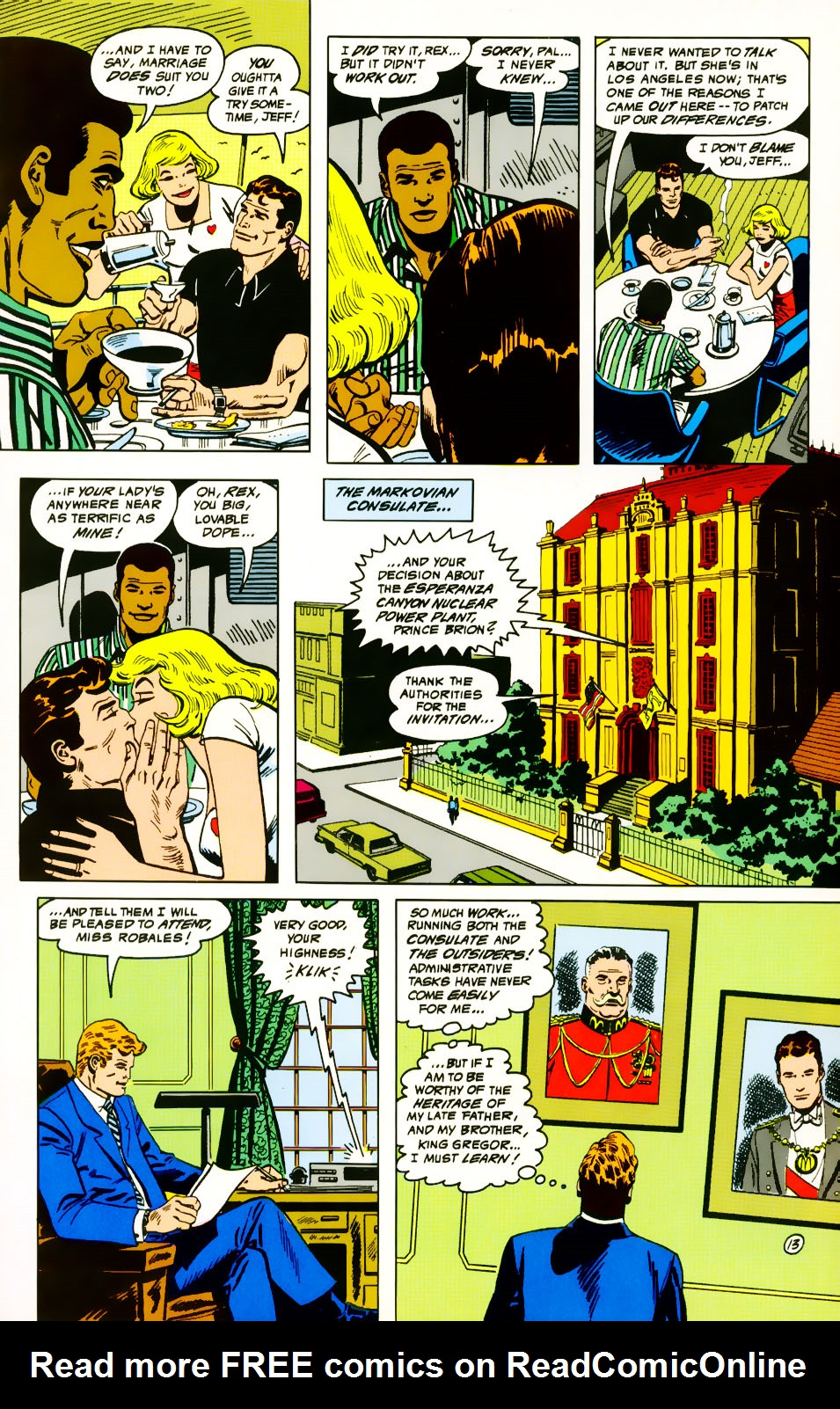 Read online Adventures of the Outsiders comic -  Issue #39 - 14