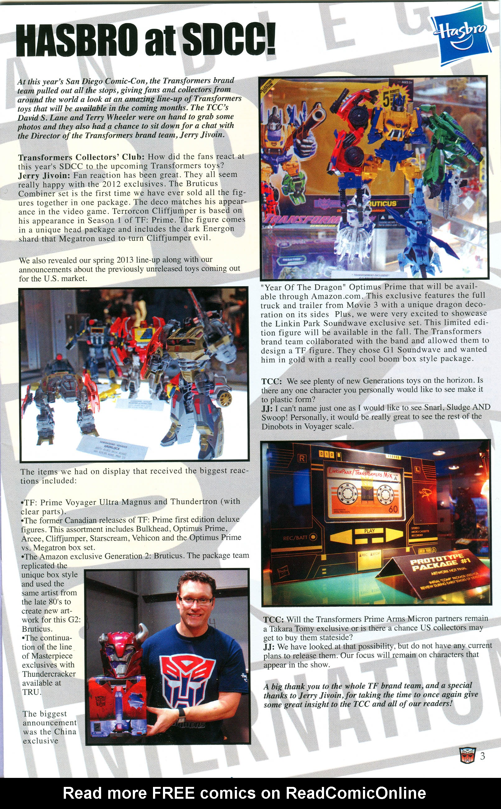 Read online Transformers: Collectors' Club comic -  Issue #46 - 3
