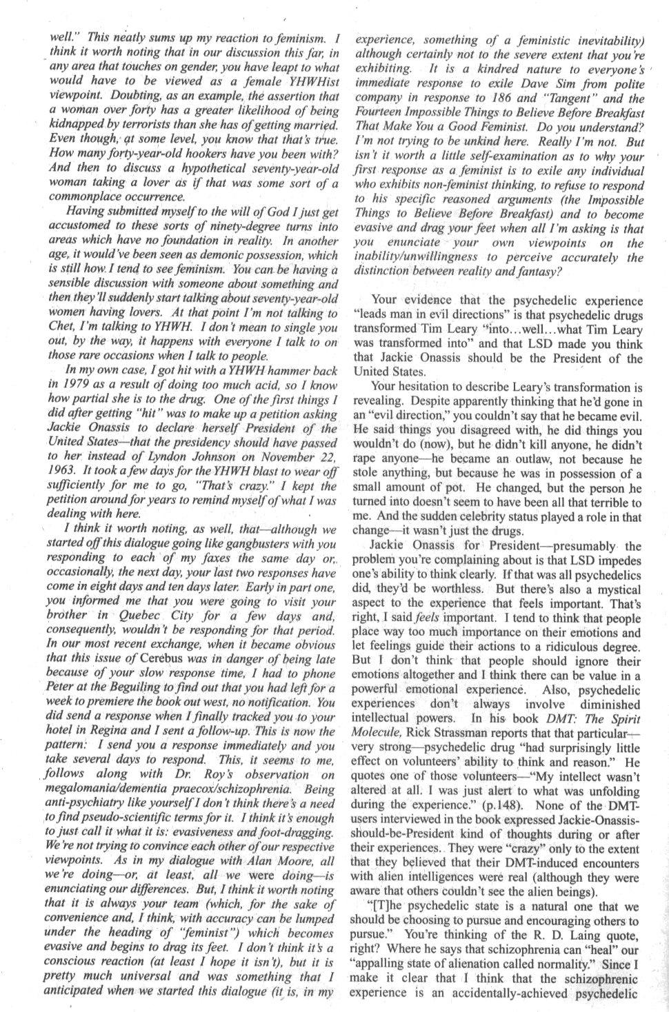 Cerebus Issue #296 #294 - English 40