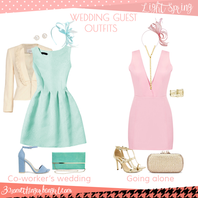 Wedding guest outfit ideas for Light Spring women by 30somethingurbangirl.com // Are you invited to a your co-worker's wedding or maybe going solo to a nuptials? Find pretty outfit ideas and look fabulous!