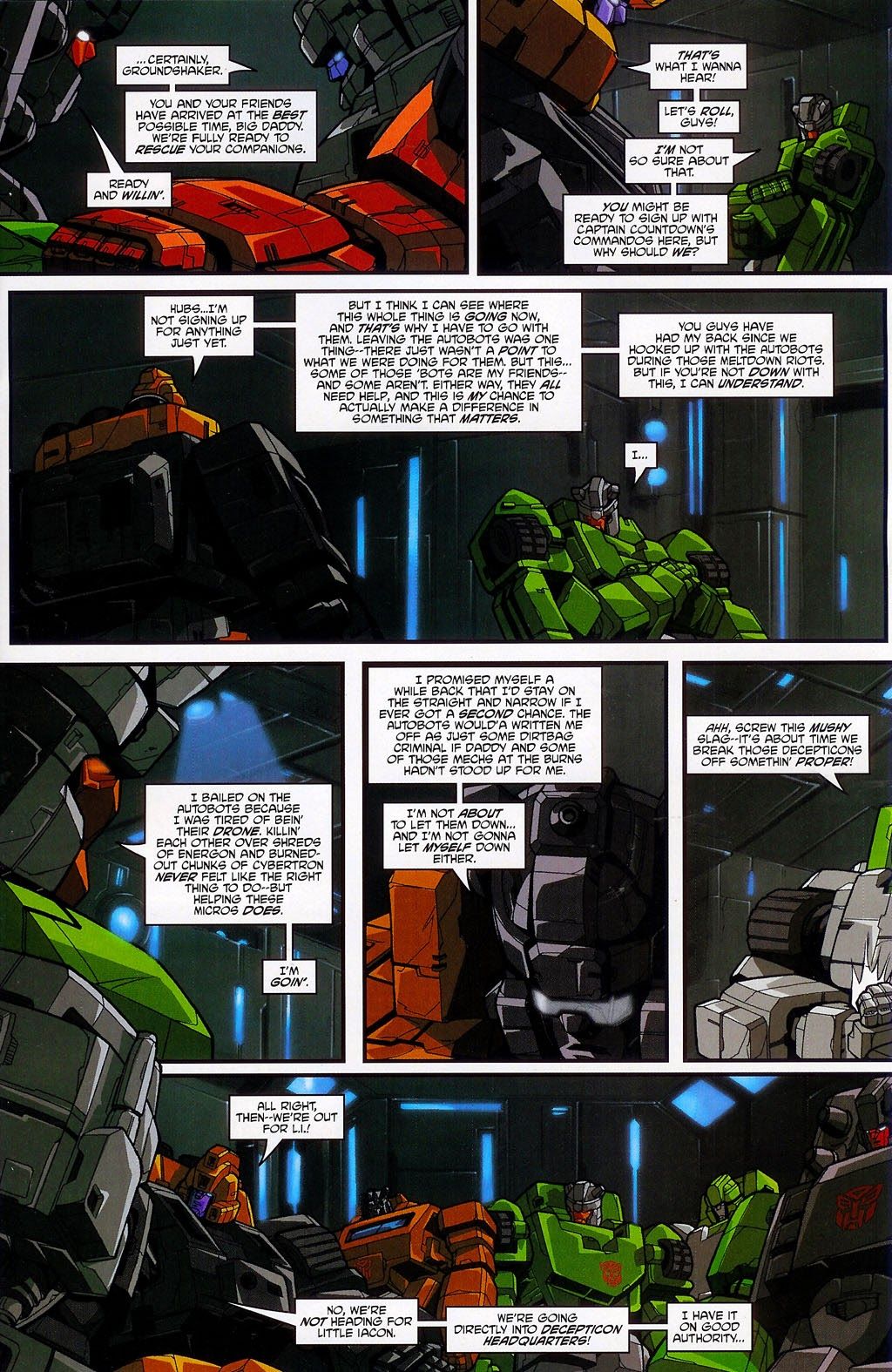 Read online Transformers: Micromasters comic -  Issue #4 - 5