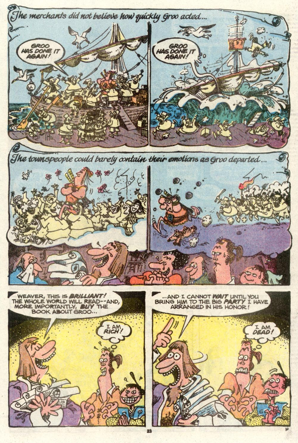 Read online Sergio Aragonés Groo the Wanderer comic -  Issue #70 - 17
