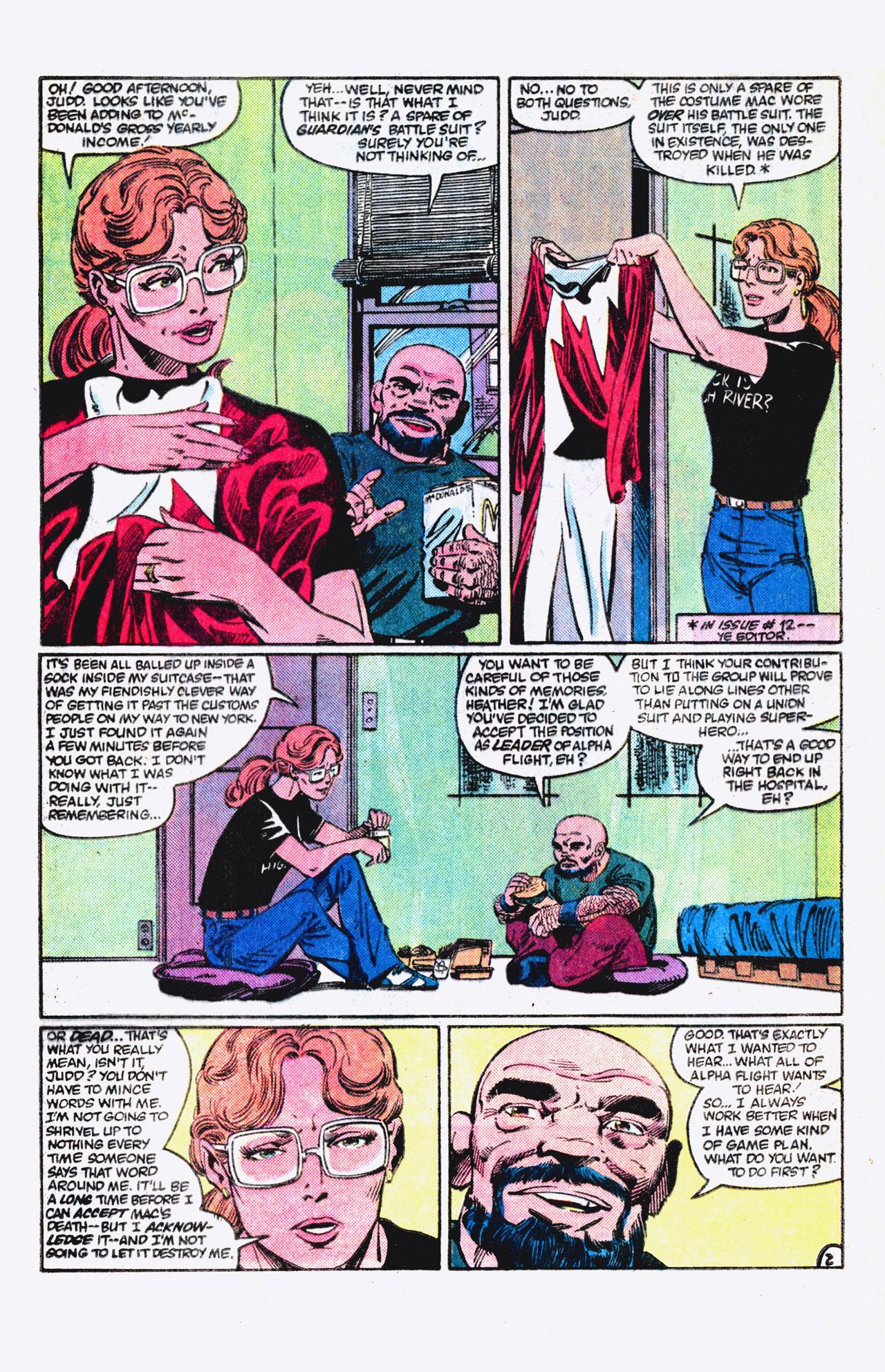 Read online Alpha Flight (1983) comic -  Issue #18 - 3