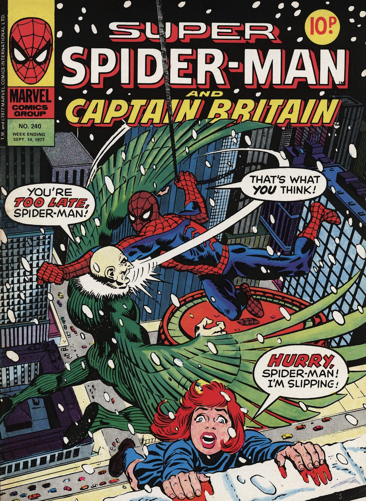 Super Spider-Man and Captain Britain issue 240 - Page 1