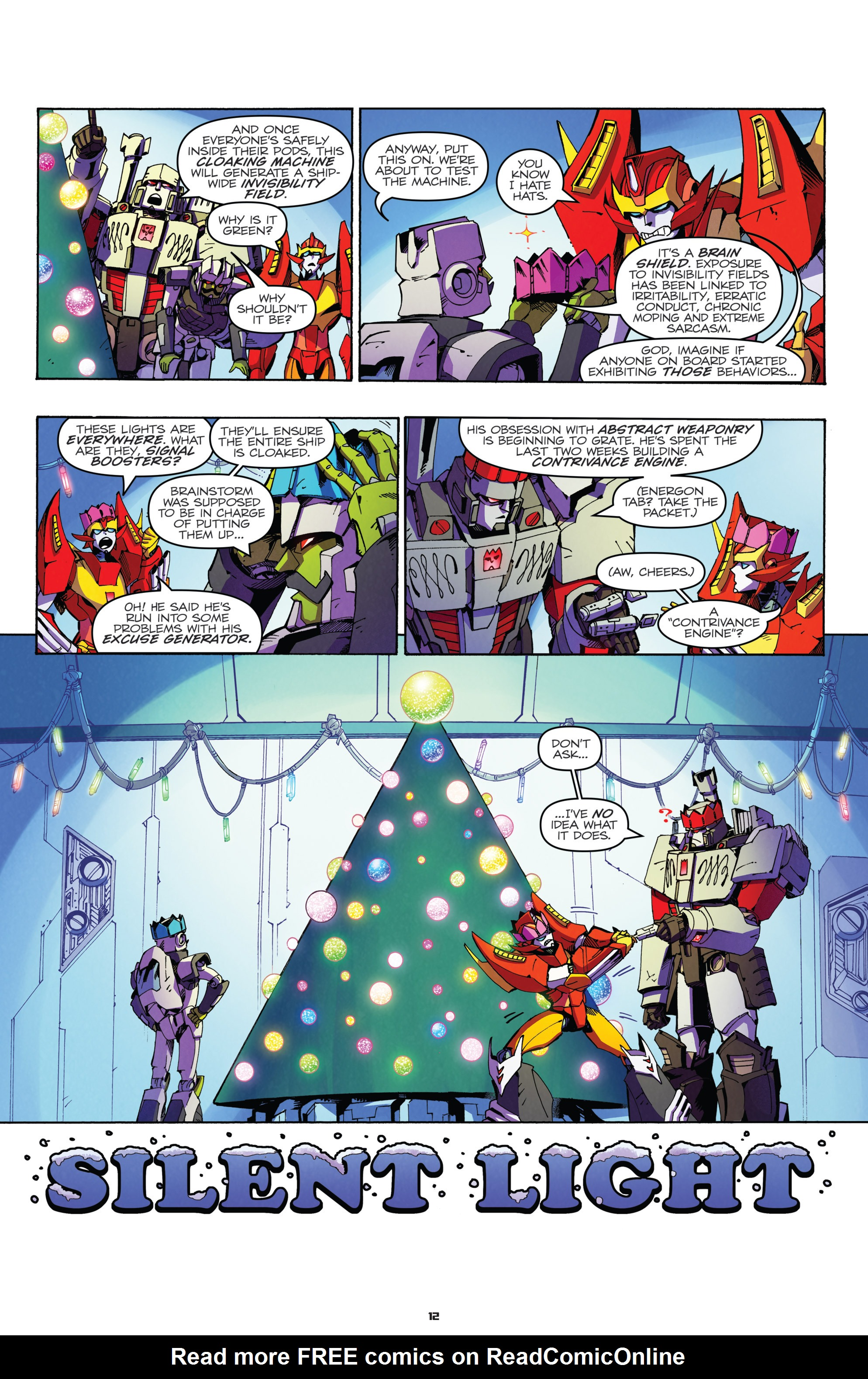 Read online Transformers: Holiday Special comic -  Issue # Full - 14