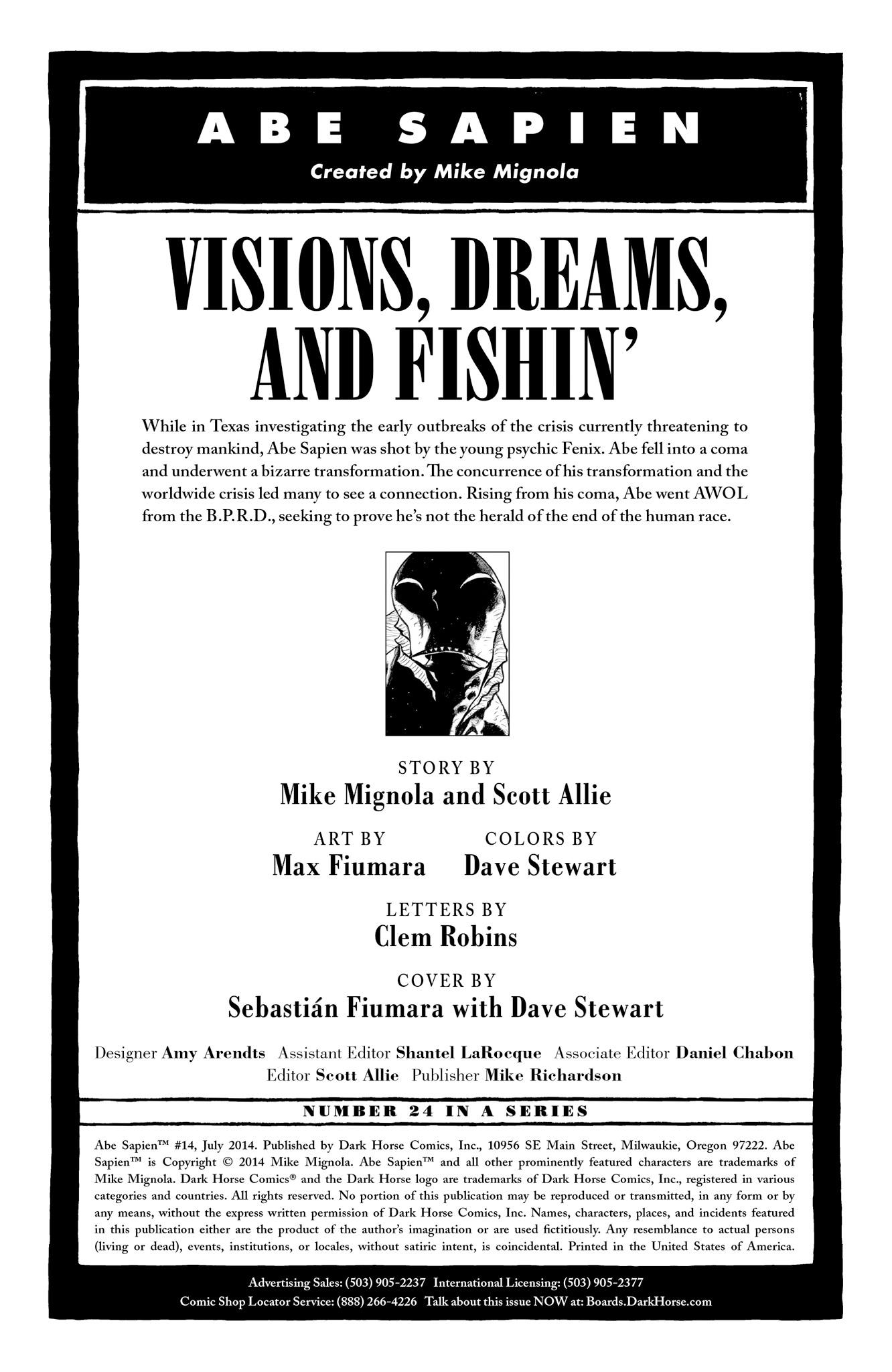 Read online Abe Sapien comic -  Issue #14 - 2
