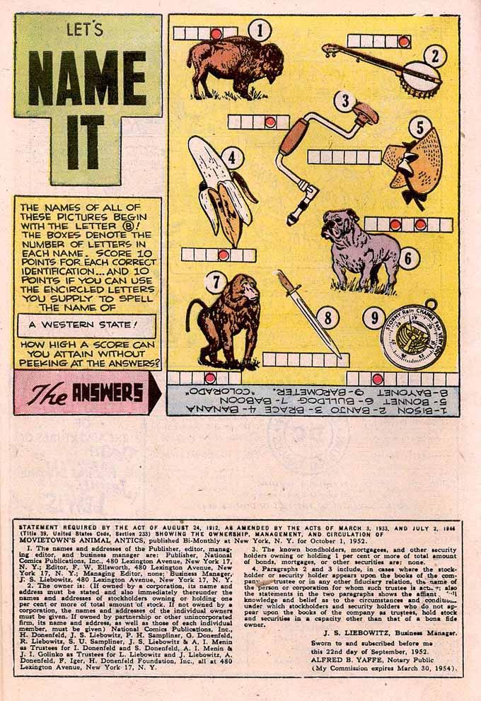 Read online Animal Antics comic -  Issue #43 - 10