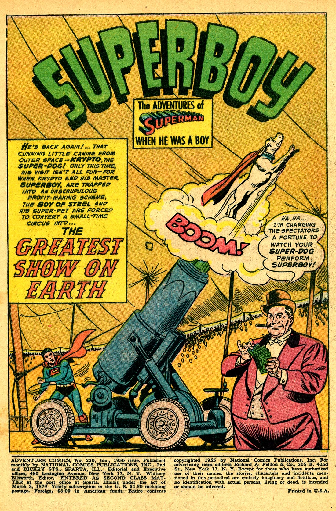 Read online Adventure Comics (1938) comic -  Issue #220 - 3