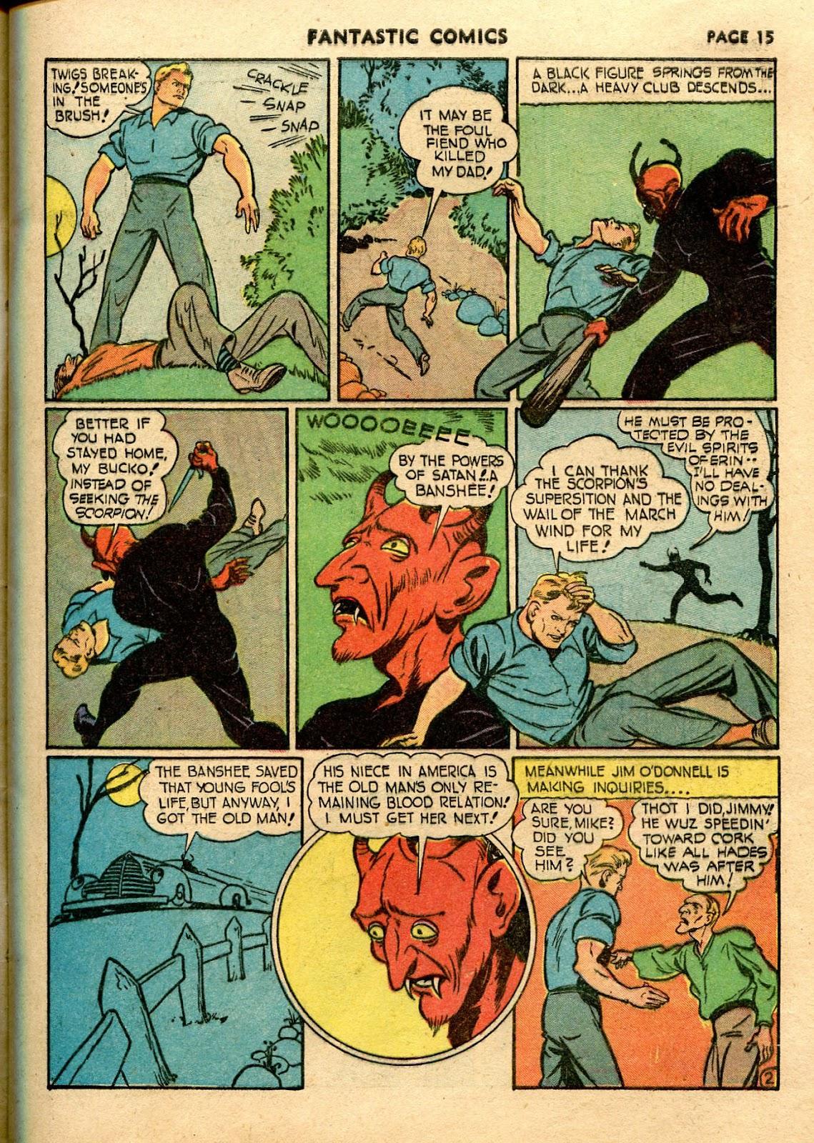 Read online Fantastic Comics comic -  Issue #21 - 17