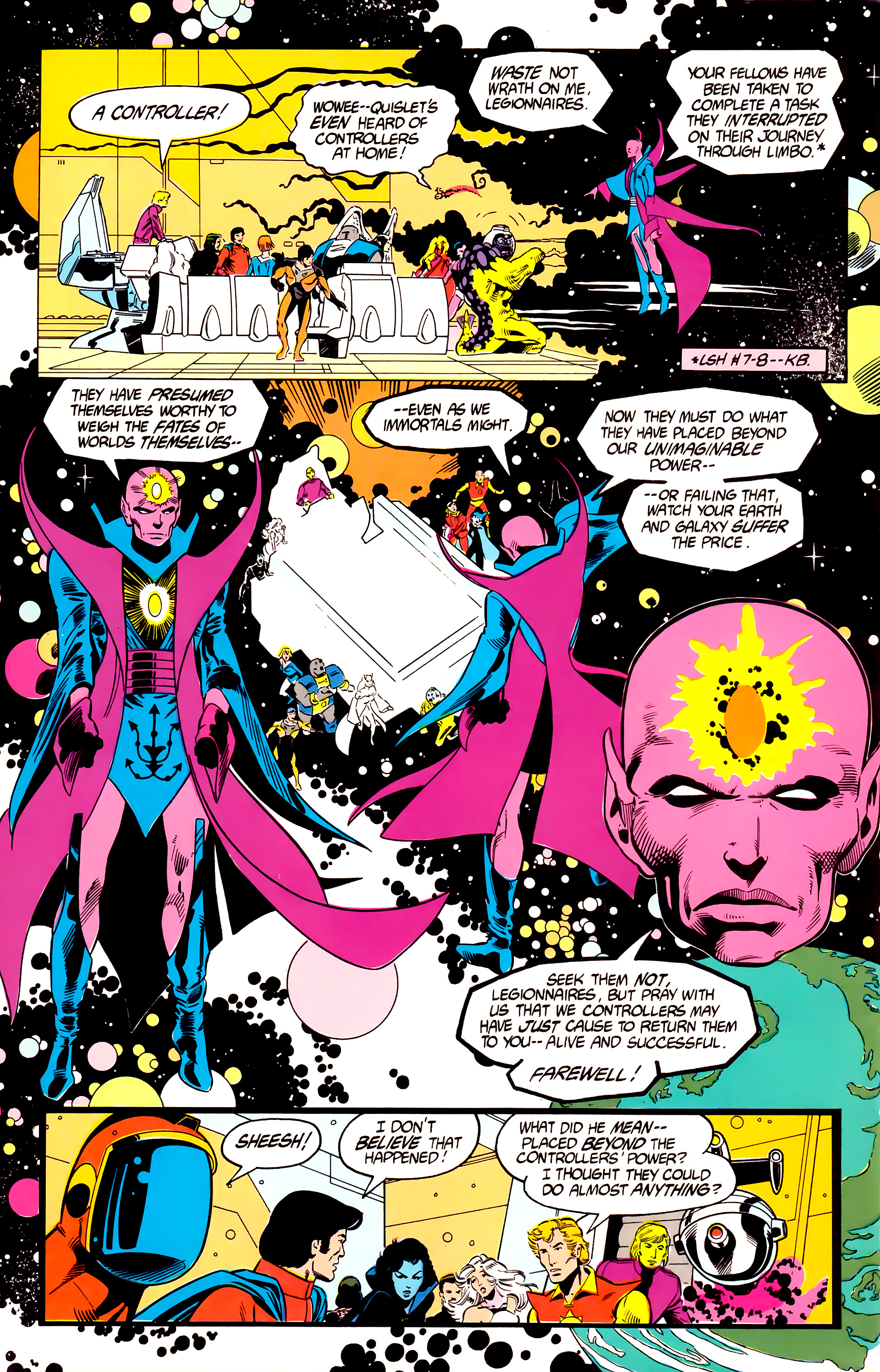 Legion of Super-Heroes (1984) 19 Page 9