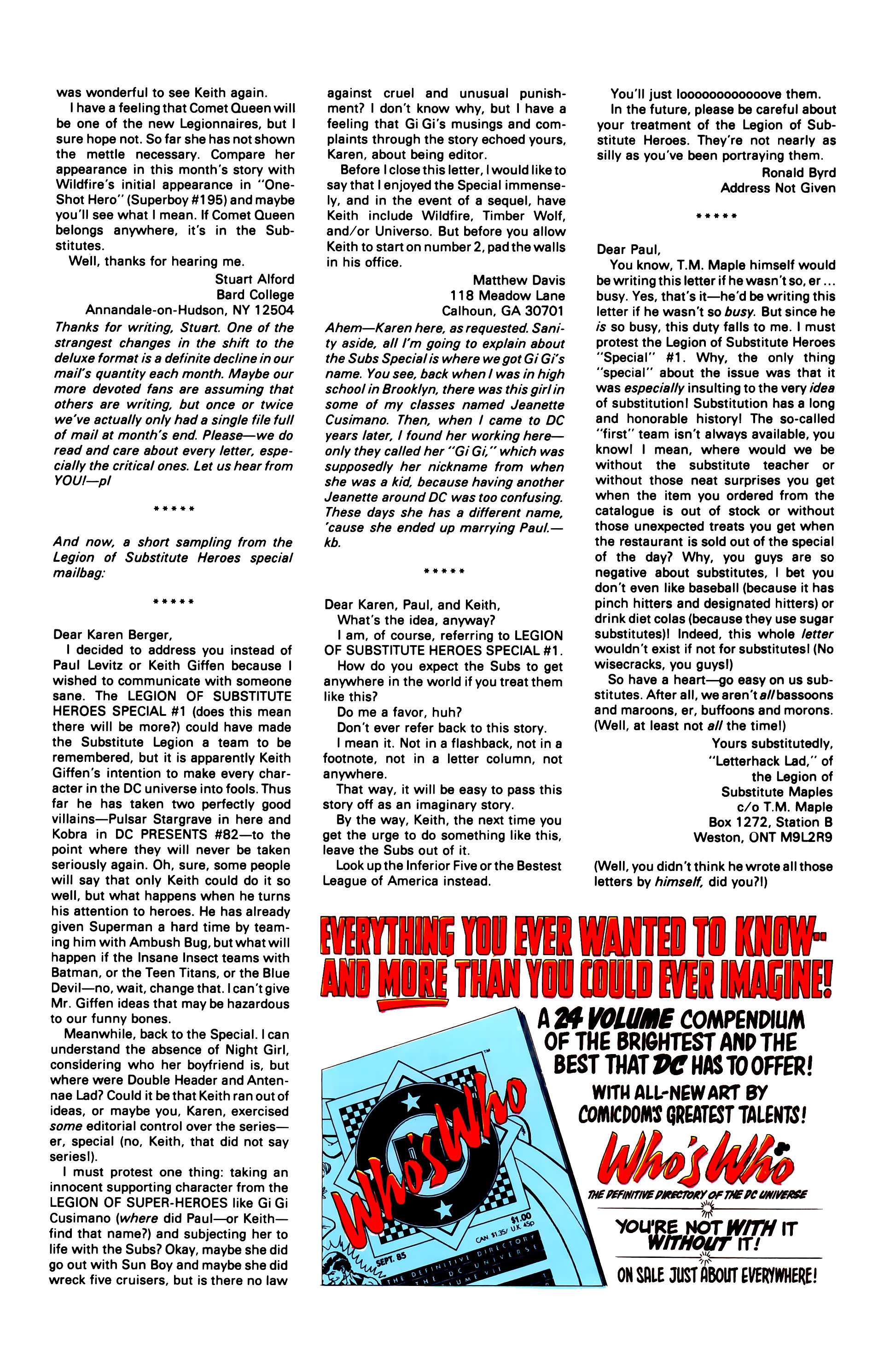 Legion of Super-Heroes (1984) 16 Page 26