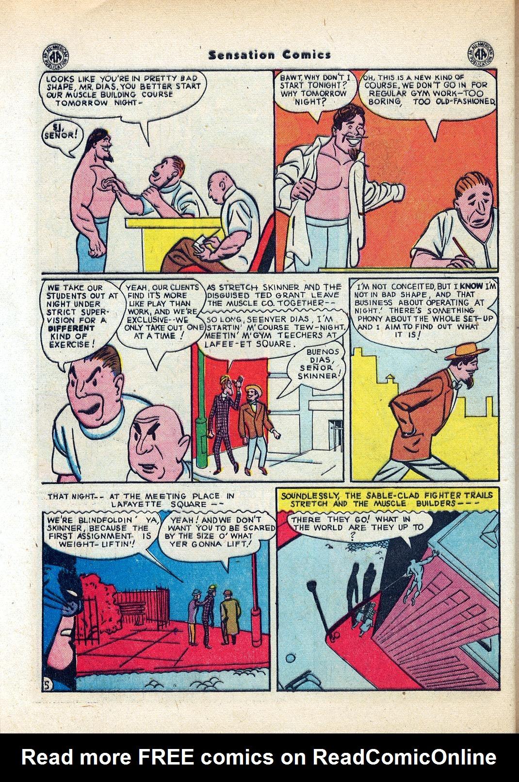 Read online Sensation (Mystery) Comics comic -  Issue #45 - 46