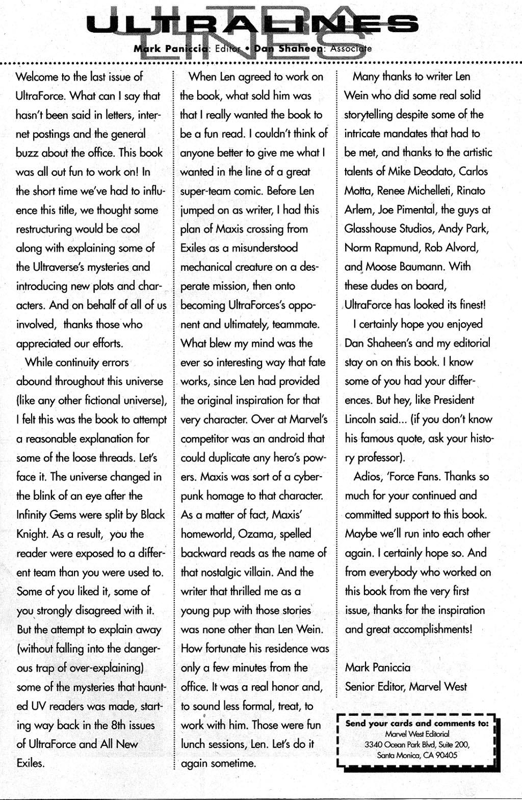 Read online UltraForce (1995) comic -  Issue #15 - 25